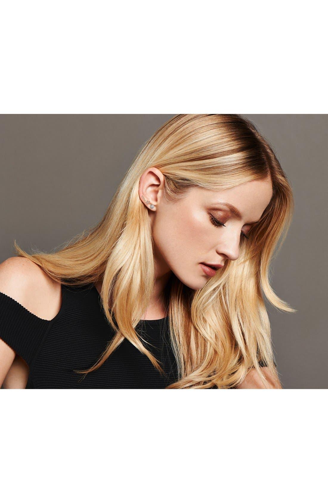 DANA REBECCA DESIGNS, 'Lauren Joy' Diamond Disc Stud Earrings, Alternate thumbnail 9, color, WHITE GOLD