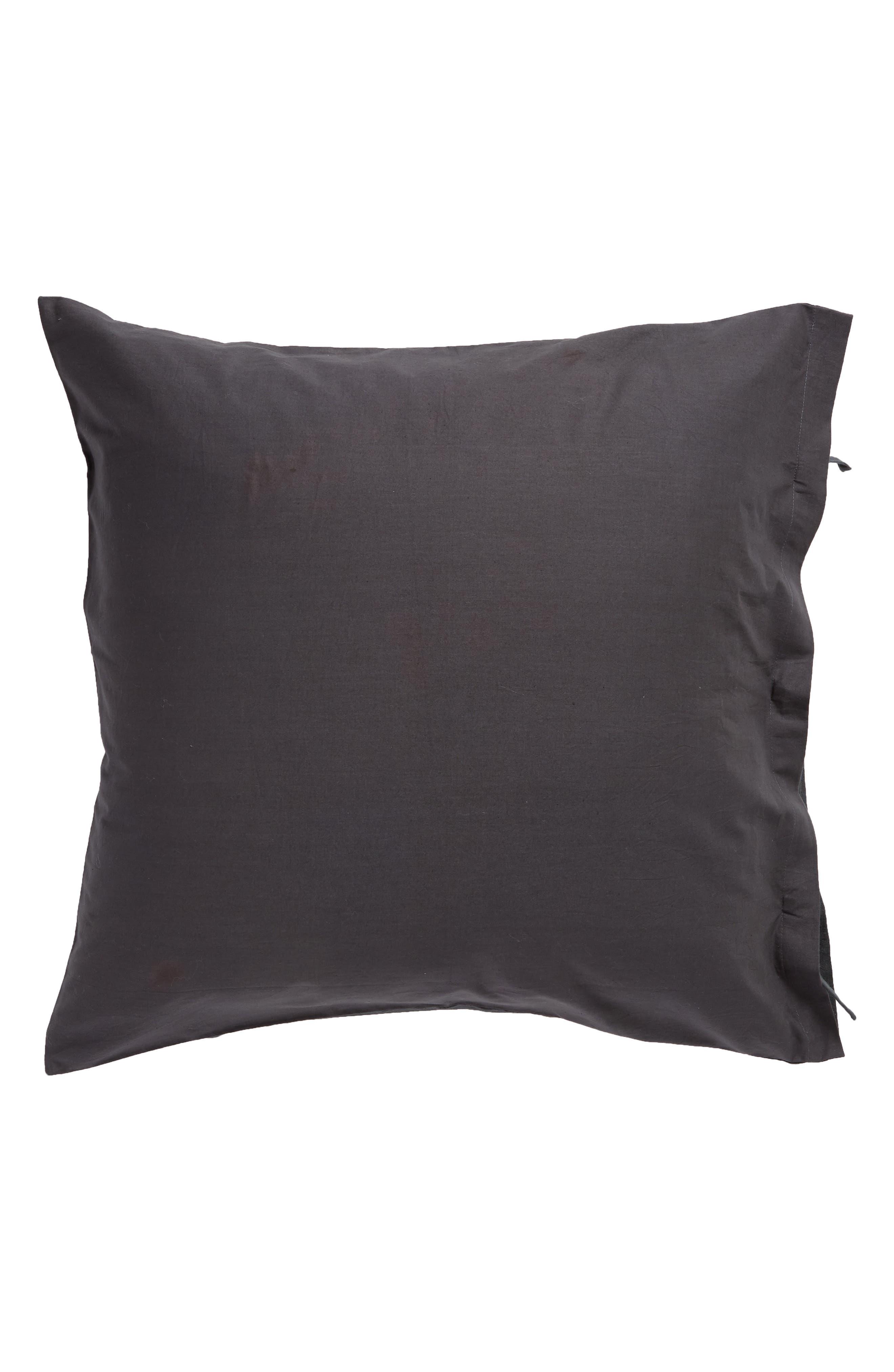 TREASURE & BOND, Relaxed Cotton & Linen Euro Sham, Alternate thumbnail 2, color, GREY ONYX