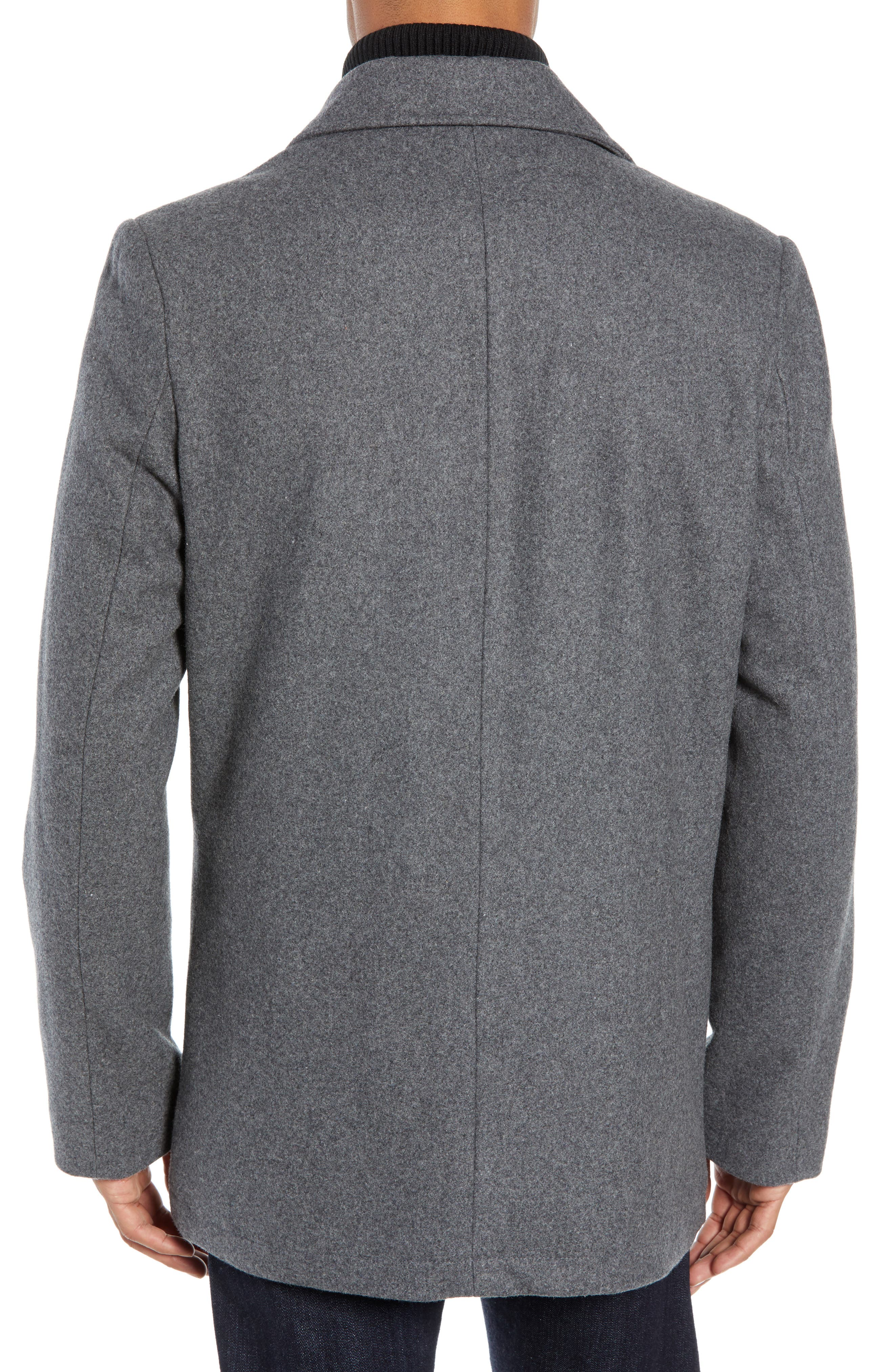 VINCE CAMUTO, Dock Peacoat, Alternate thumbnail 2, color, HEATHER GREY