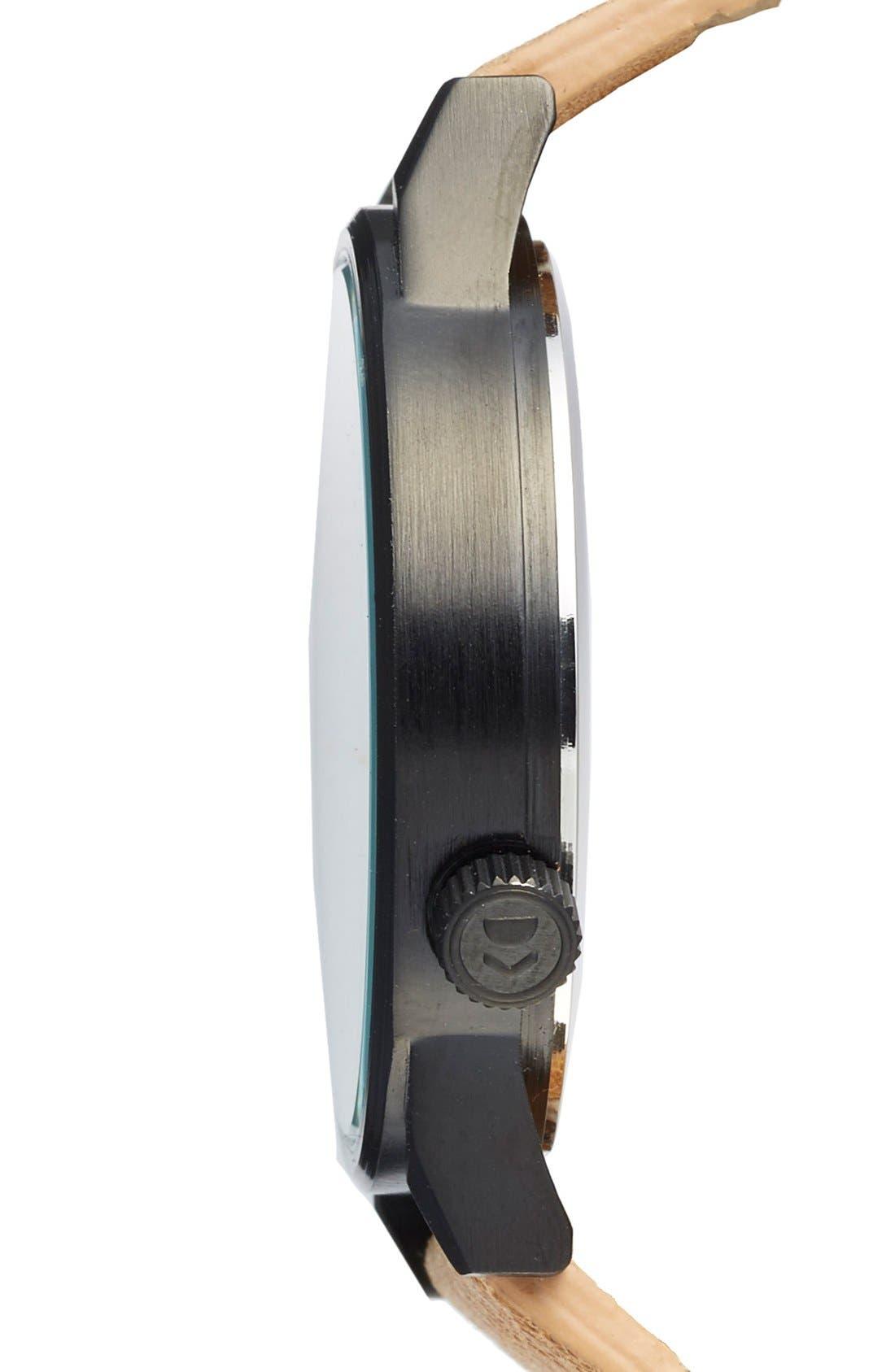 KOMONO, 'Winston Regal' Leather Strap Watch, 42mm, Alternate thumbnail 3, color, 230