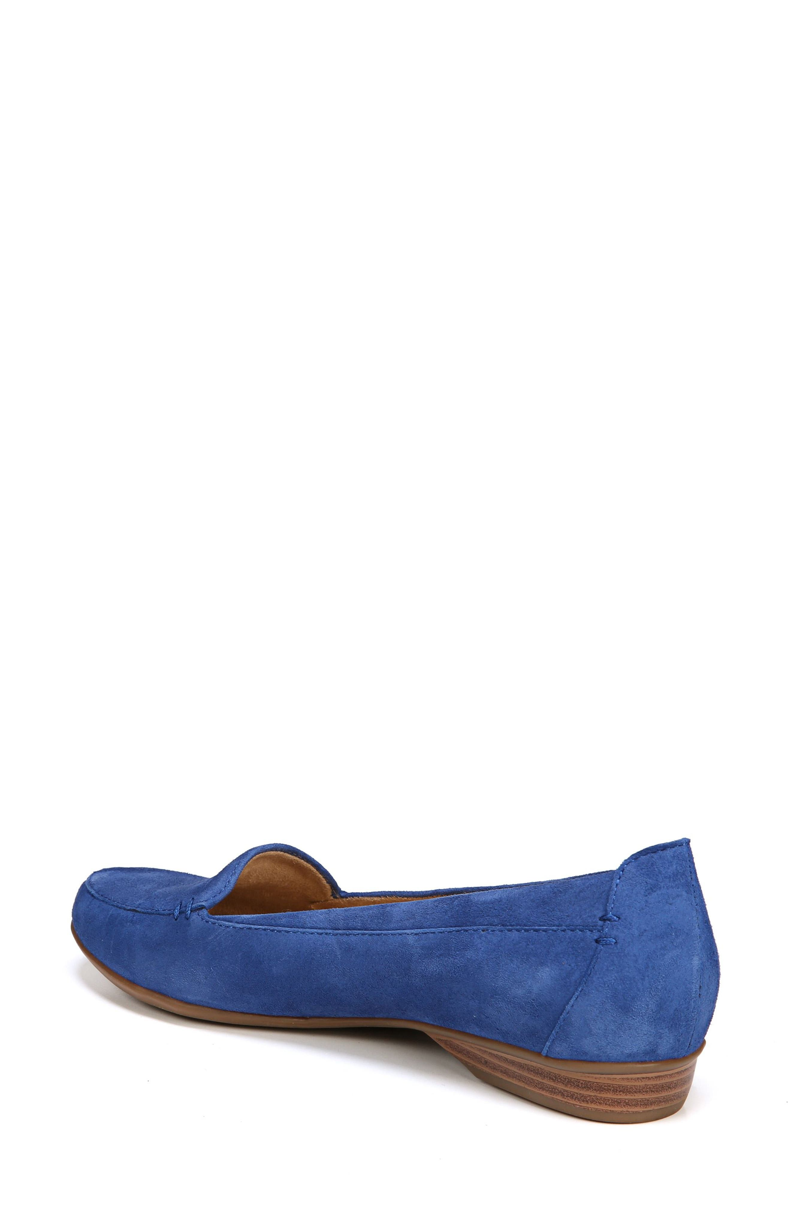 NATURALIZER, 'Saban' Leather Loafer, Alternate thumbnail 2, color, FRENCH BLUE SUEDE