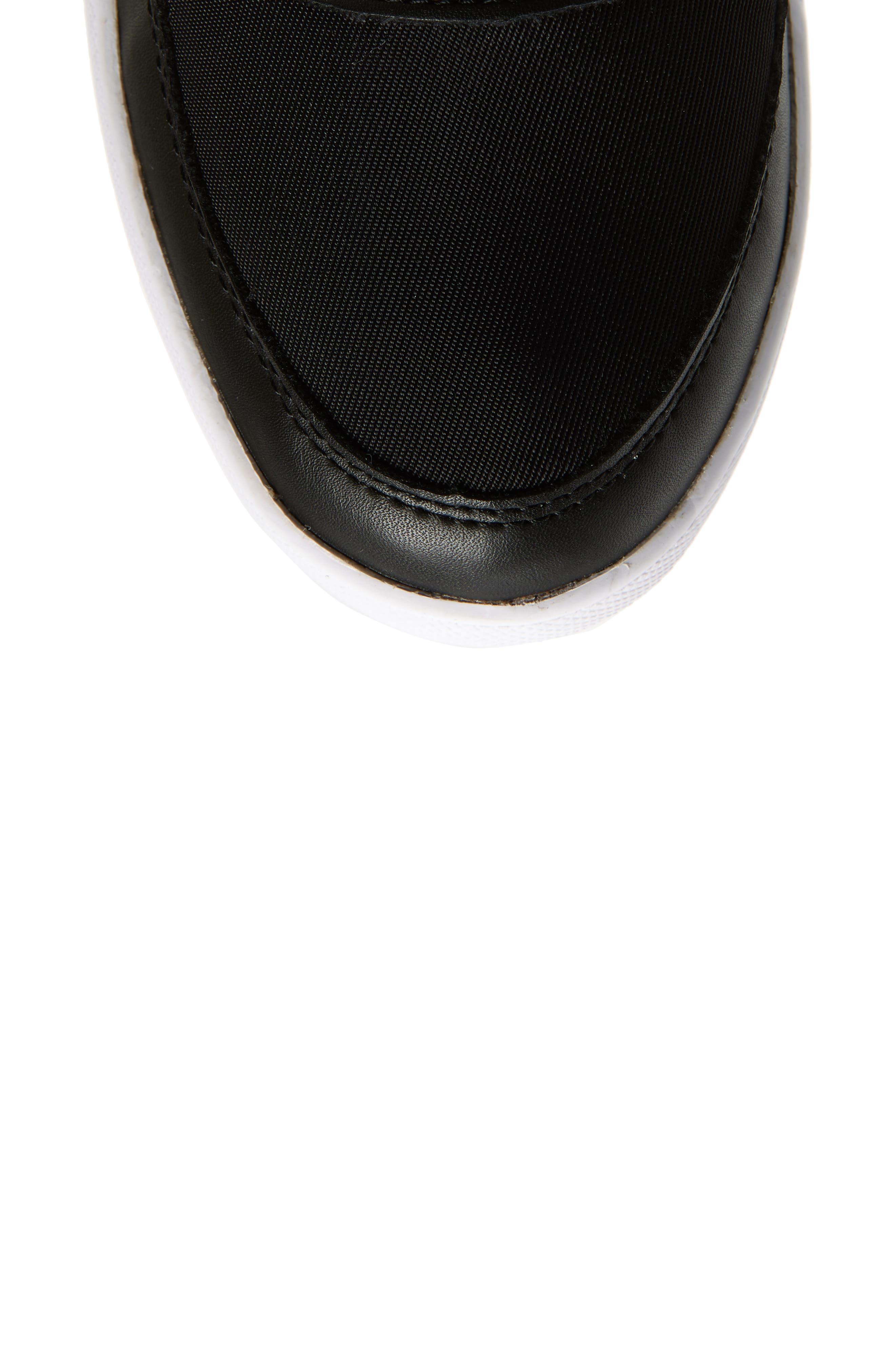COUGAR, Vesta Faux Fur Collar Knee High Snow Boot, Alternate thumbnail 5, color, BLACK FABRIC