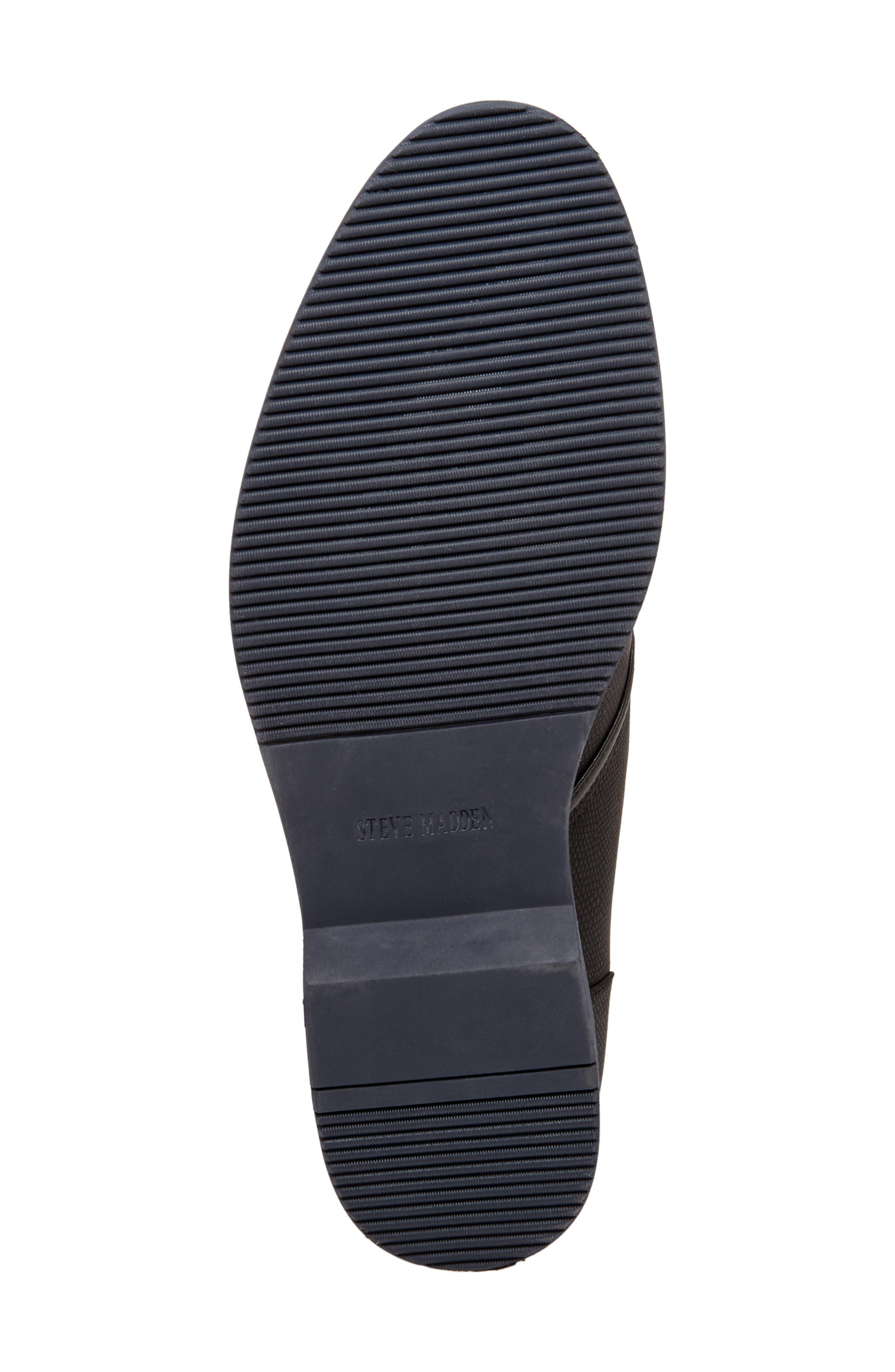 STEVE MADDEN, Nurture Plain Toe Boot, Alternate thumbnail 6, color, 002