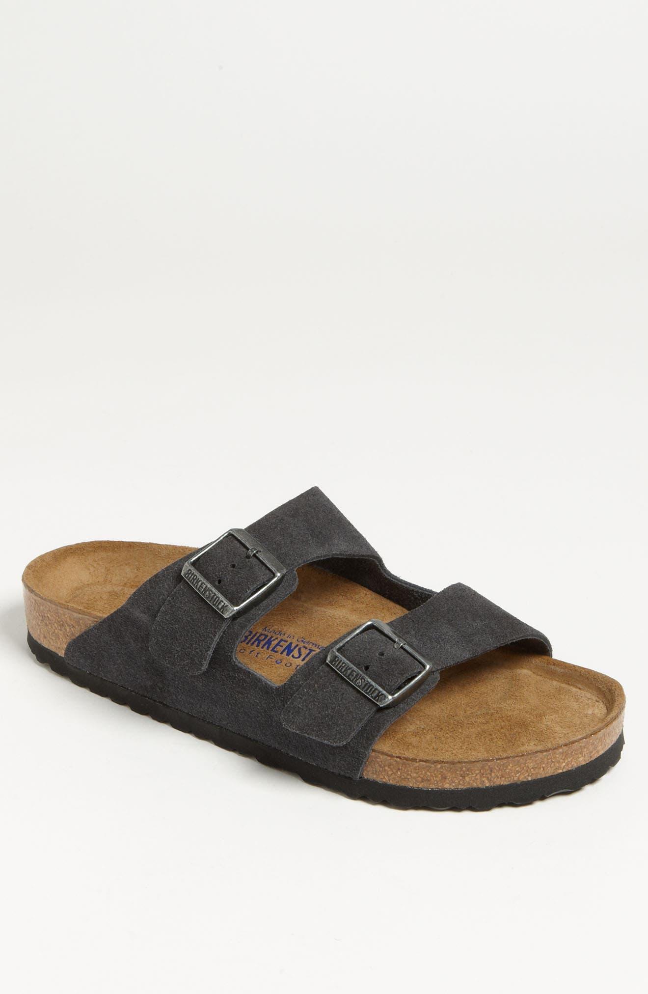 BIRKENSTOCK Arizona Soft Slide Sandal, Main, color, VELVET GRAY