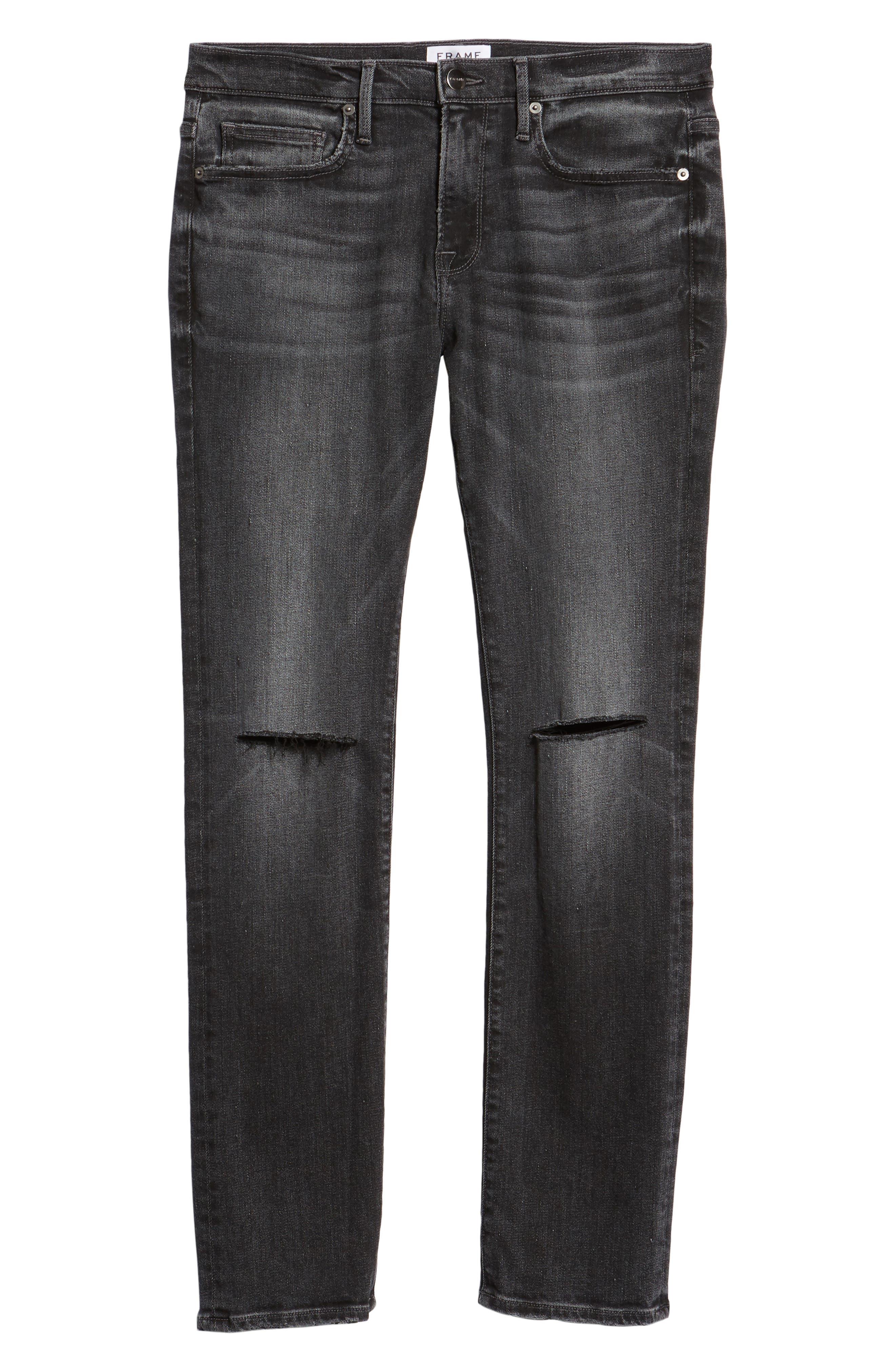 FRAME, L'Homme Slim Fit Jeans, Alternate thumbnail 7, color, HUBBELL
