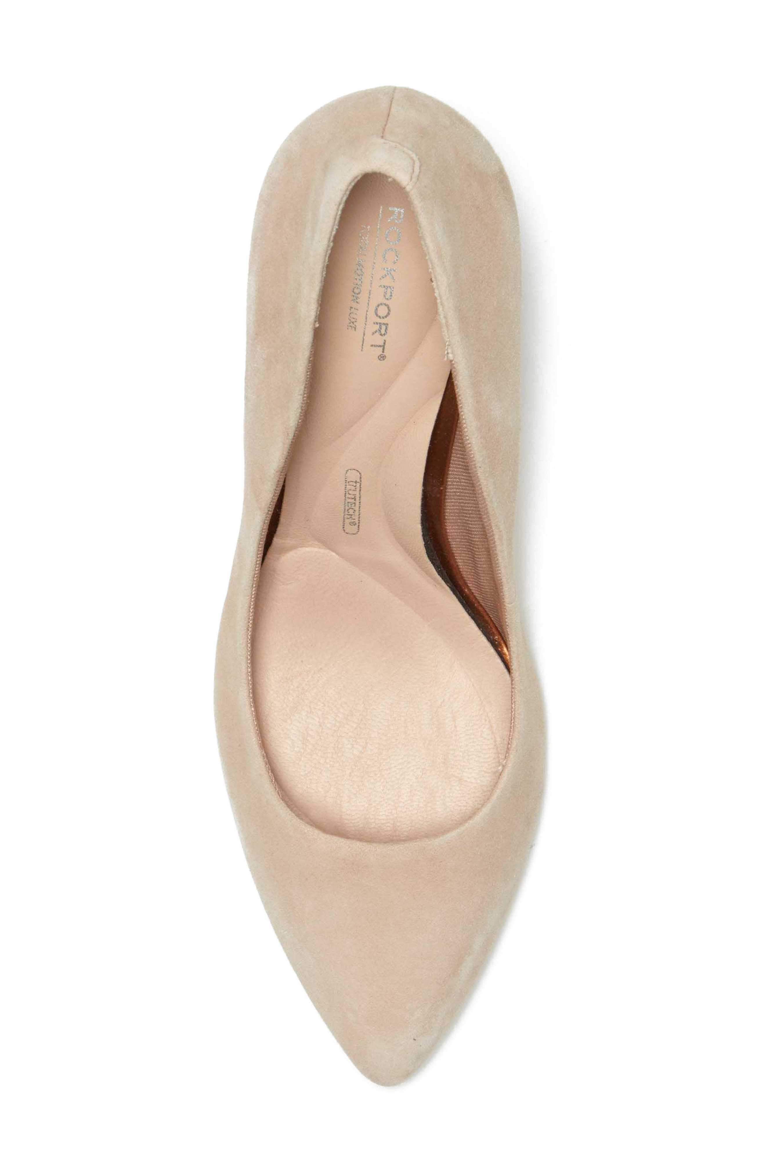 ROCKPORT, Total Motion Luxe Valerie Pump, Alternate thumbnail 5, color, BLUSH SUEDE
