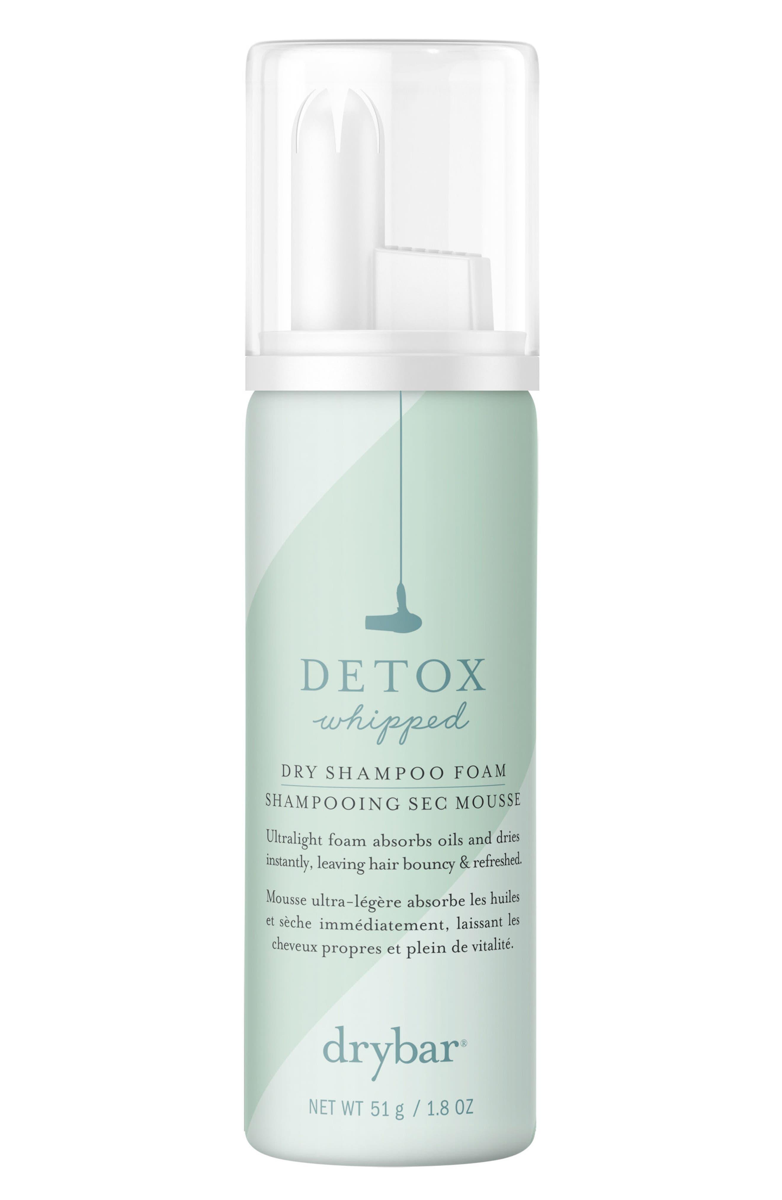 DRYBAR, Detox Whipped Dry Shampoo Foam, Alternate thumbnail 2, color, NO COLOR