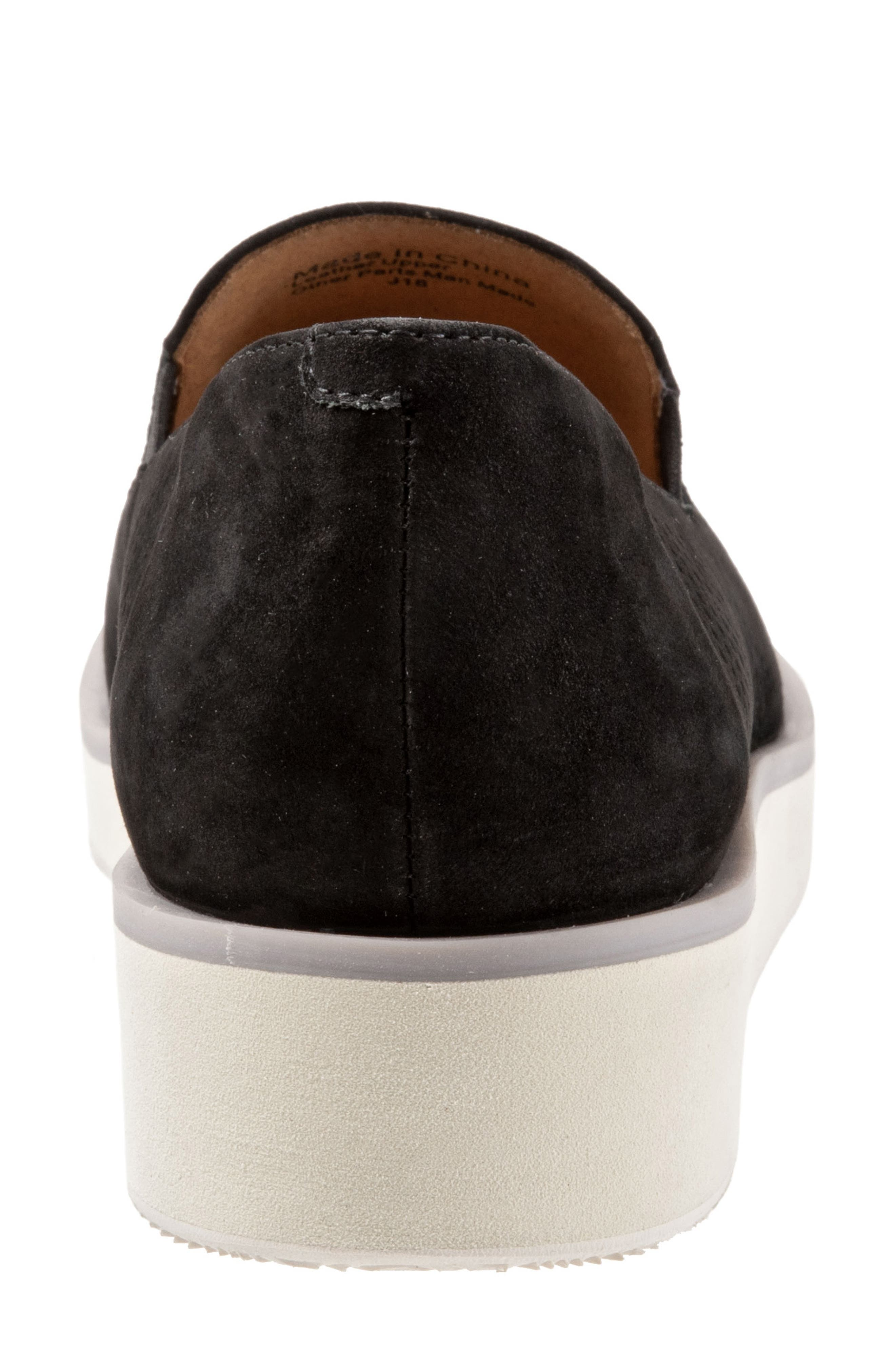 SOFTWALK<SUP>®</SUP>, Whistle Slip-On, Alternate thumbnail 7, color, BLACK/ BLACK LEATHER