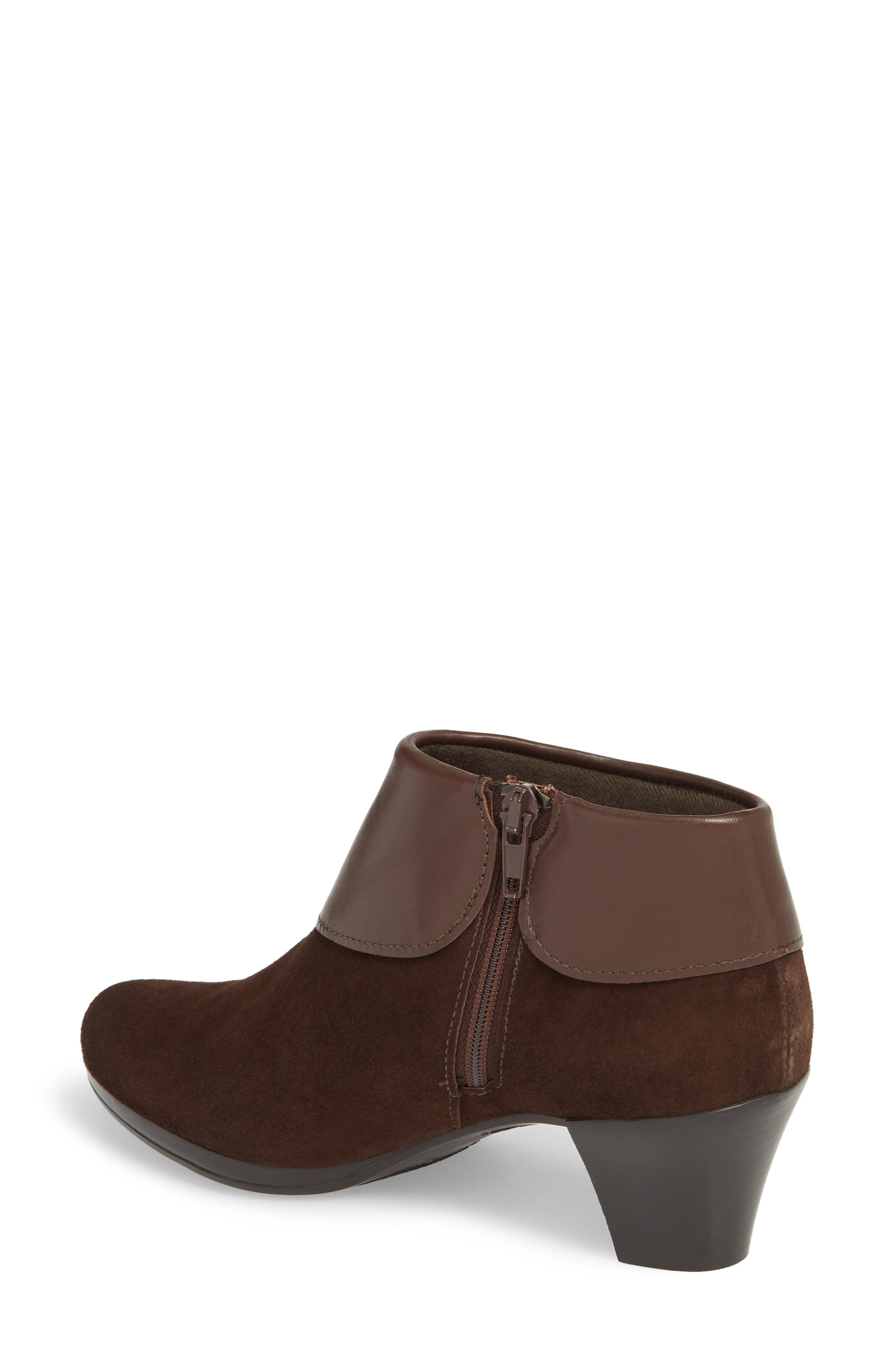 MUNRO, Gracee Boot, Alternate thumbnail 2, color, CHOCOLATE LEATHER