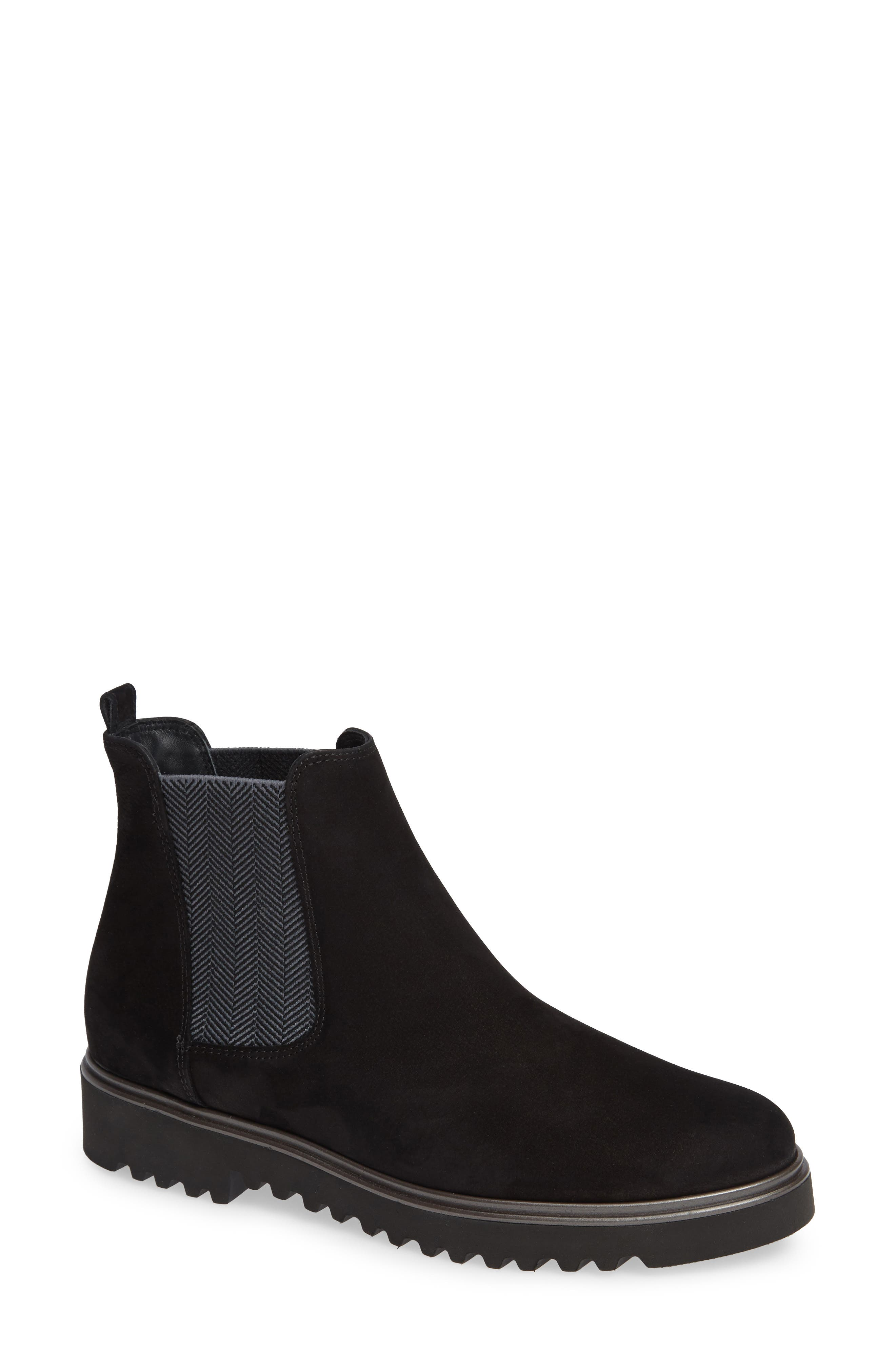 Paul Green Vienna Lugged Chelsea Bootie - Black