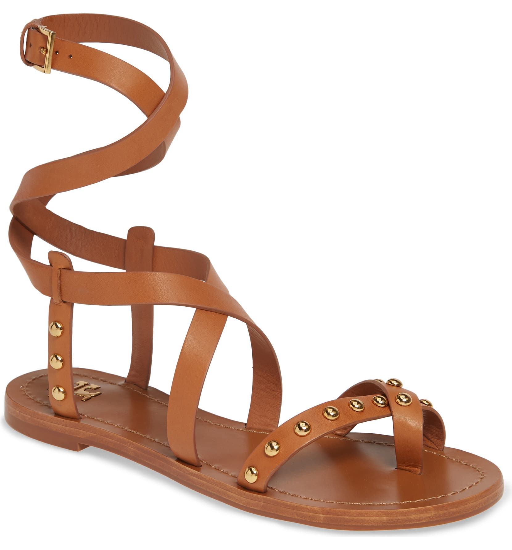 8a78df3d78e0 Tory Burch Ravello Studded Cage Sandal (Women)