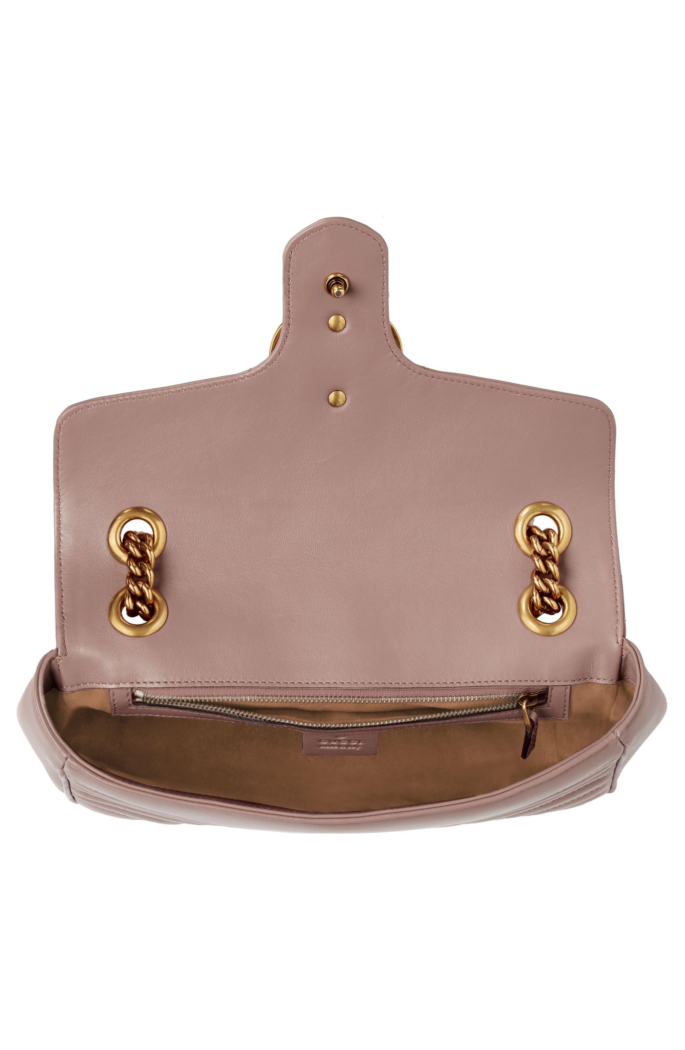 GUCCI, Small GG Marmont 2.0 Matelassé Leather Shoulder Bag, Alternate thumbnail 3, color, PORCELAIN ROSE/ PORCELAIN ROSE