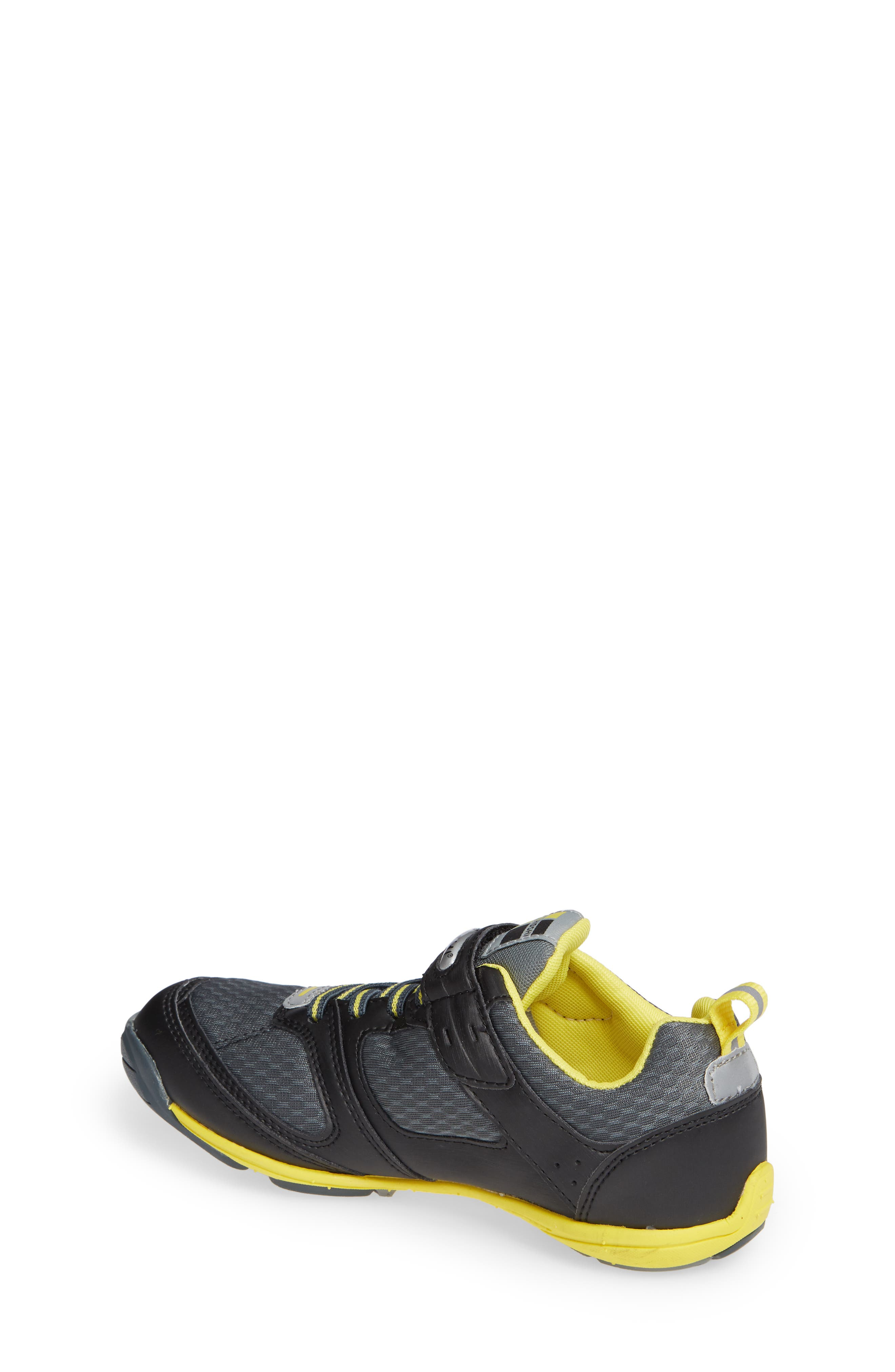 TSUKIHOSHI, Mako Washable Sneaker, Alternate thumbnail 2, color, BLACK/ YELLOW