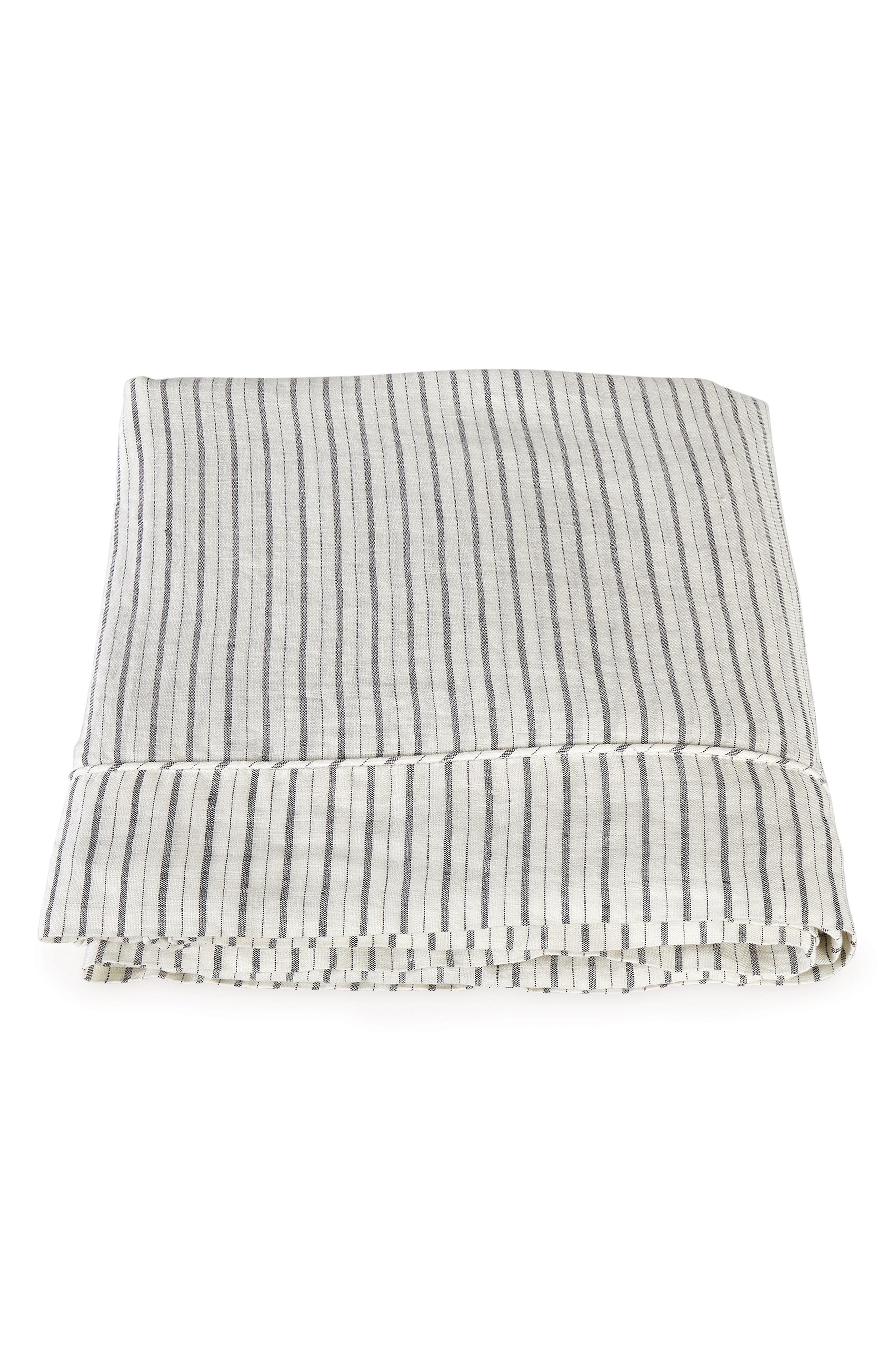 Matouk Tristen Linen Flat Sheet Size FullQueen  White