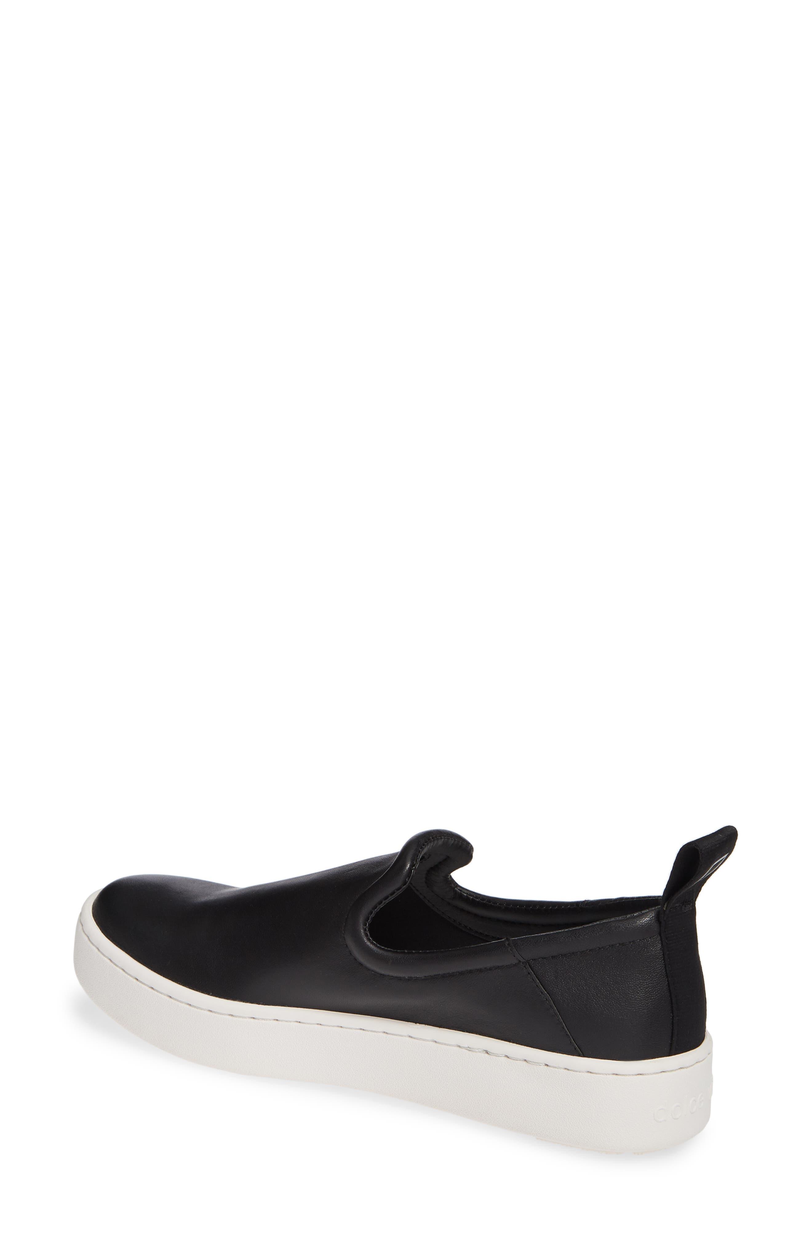 DOLCE VITA, Tag Slip-On Sneaker, Alternate thumbnail 2, color, BLACK LEATHER