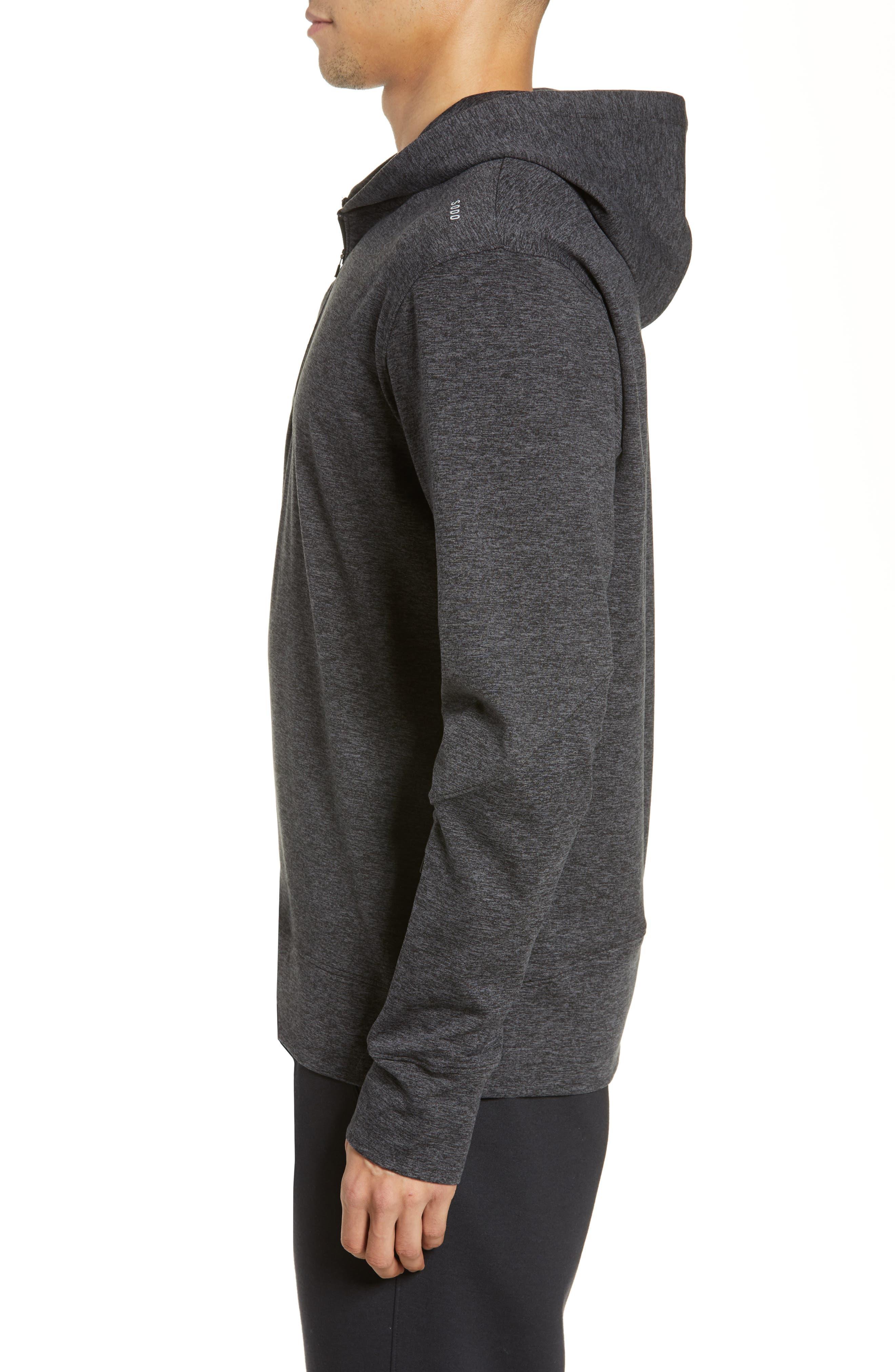 SODO, Elevate Hooded Sweatshirt, Alternate thumbnail 3, color, HEATHER CHARCOAL BLACK/ BLACK