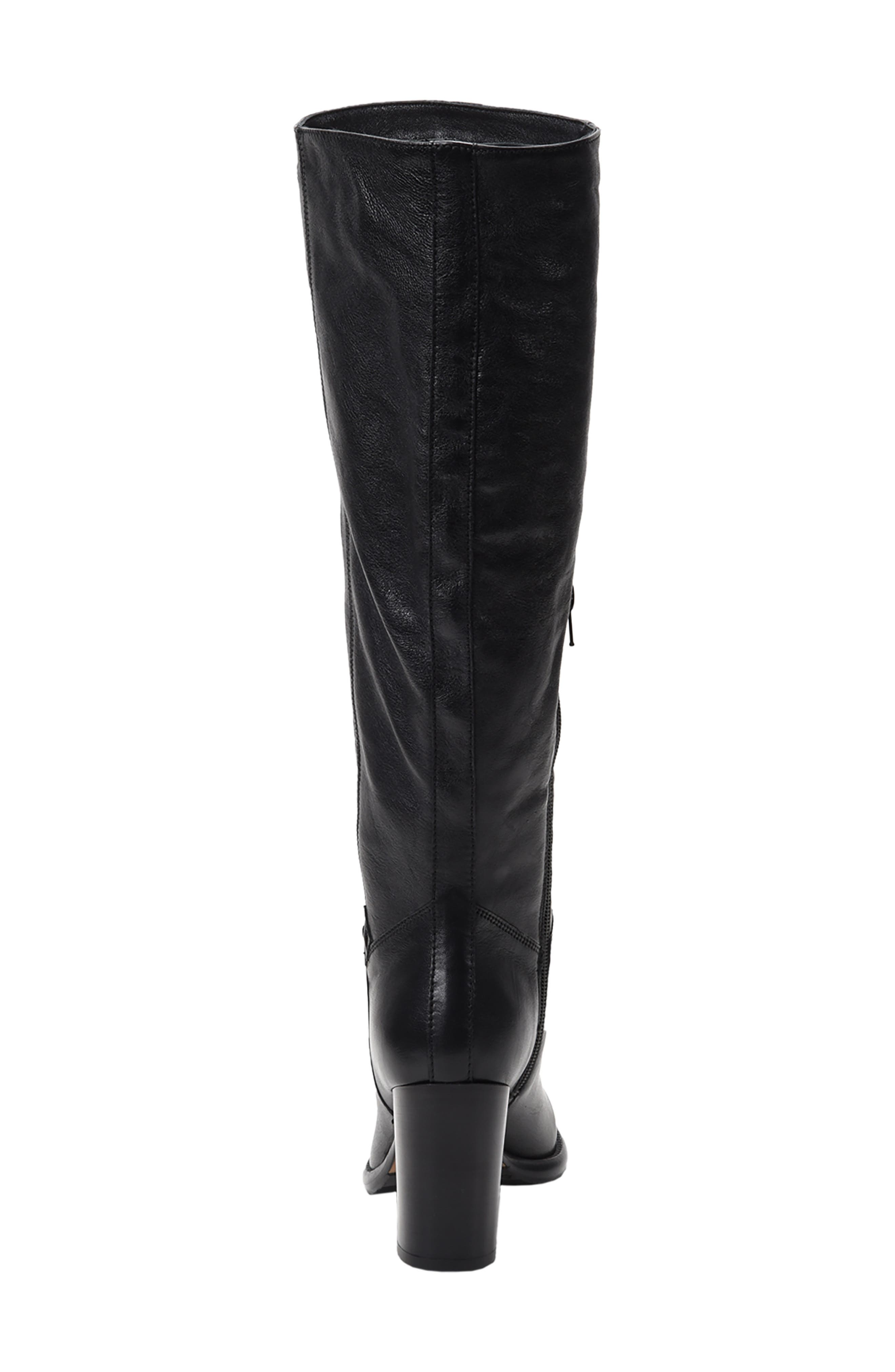 ROSS & SNOW, Michela SP Waterproof Genuine Shearling Lined Boot, Alternate thumbnail 6, color, BLACK METALLIC LEATHER
