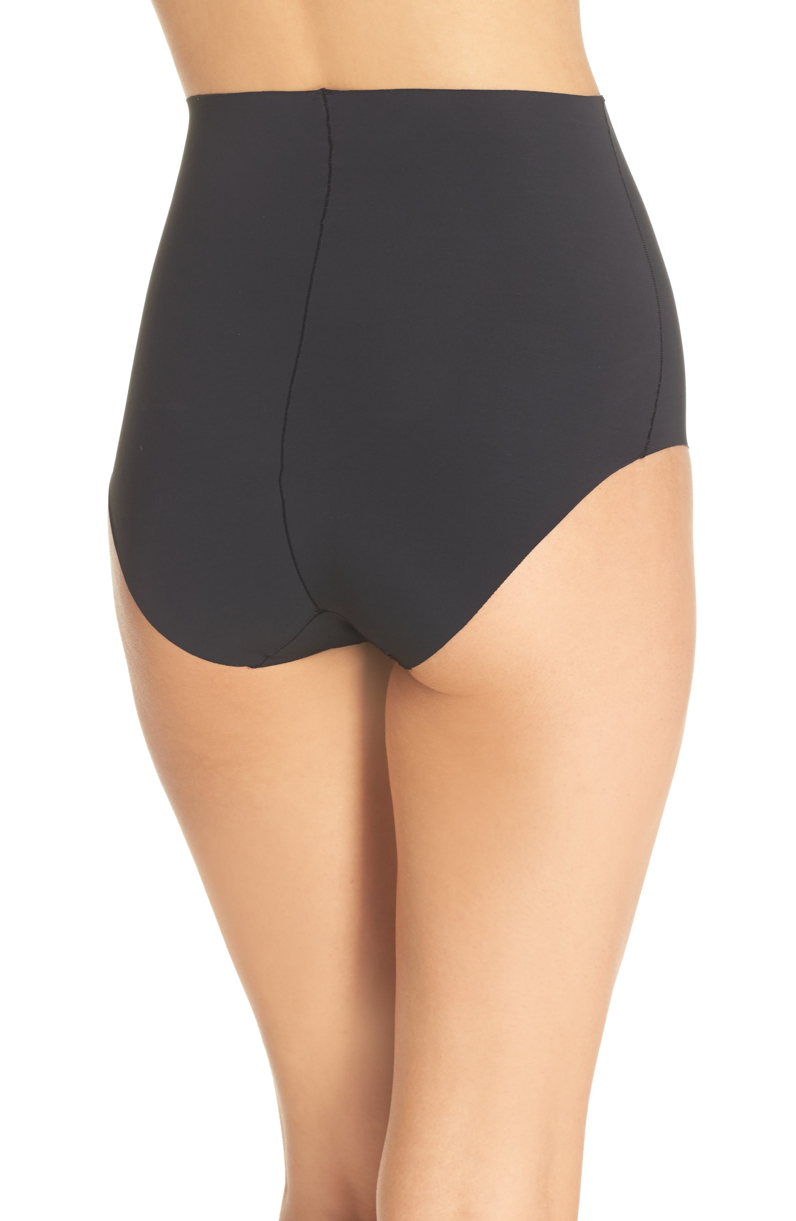 YUMMIE, Smooth Solutions Mid Waist Briefs, Alternate thumbnail 2, color, BLACK