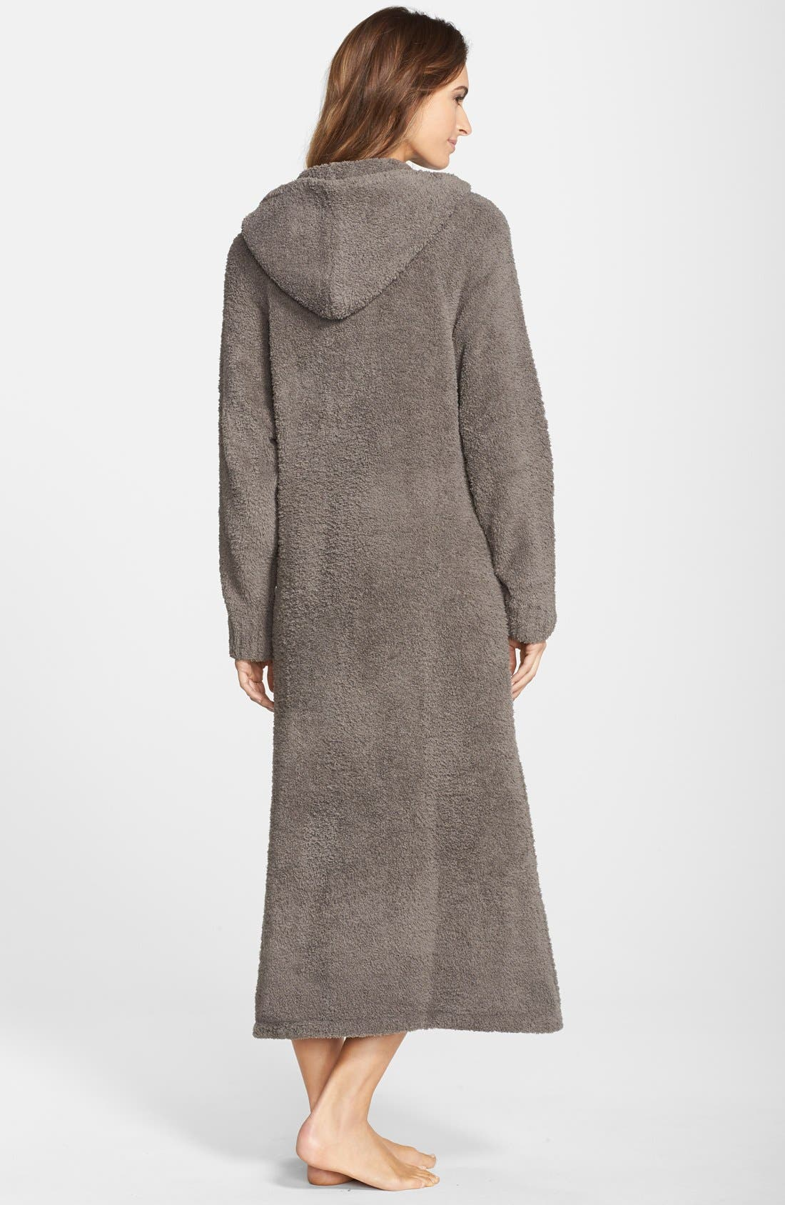 BAREFOOT DREAMS<SUP>®</SUP>, CozyChic<sup>®</sup> Hooded Zip Robe, Alternate thumbnail 7, color, 020