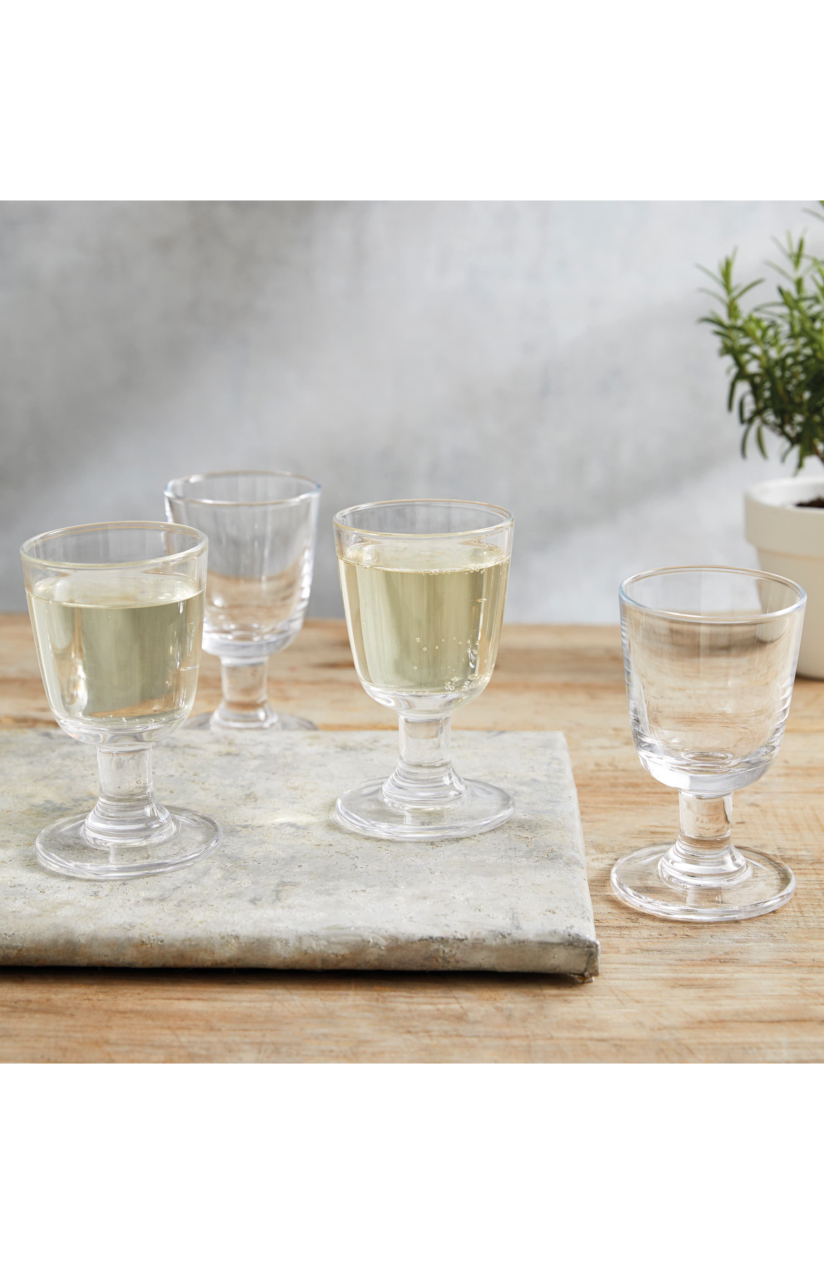 THE WHITE COMPANY, Orford Set of 4 Wine Glasses, Alternate thumbnail 3, color, CLEAR
