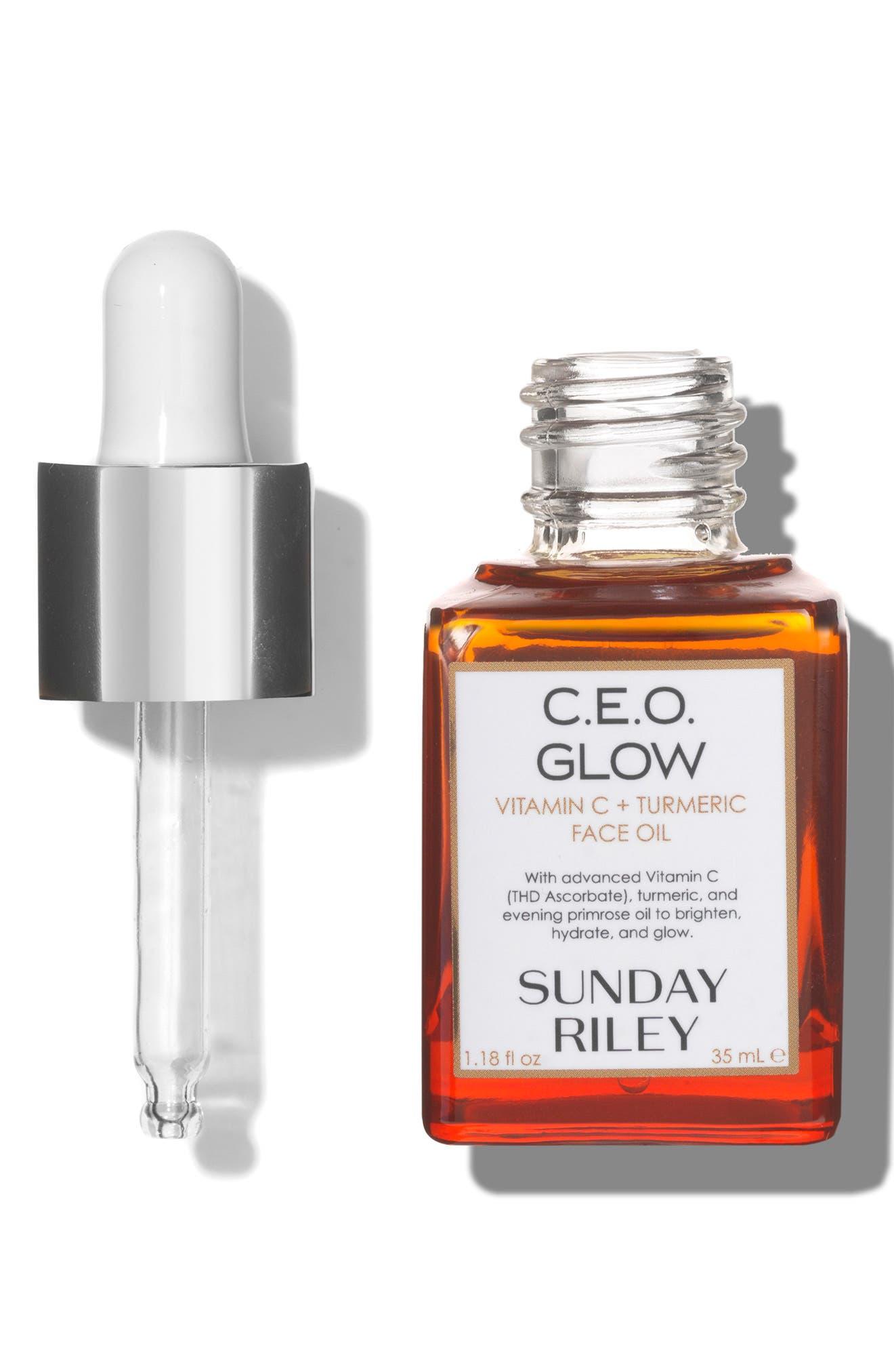 SUNDAY RILEY, SPACE.NK.apothecary Sunday Riley C.E.O. Glow Vitamin C + Turmeric Face Oil, Alternate thumbnail 2, color, NO COLOR