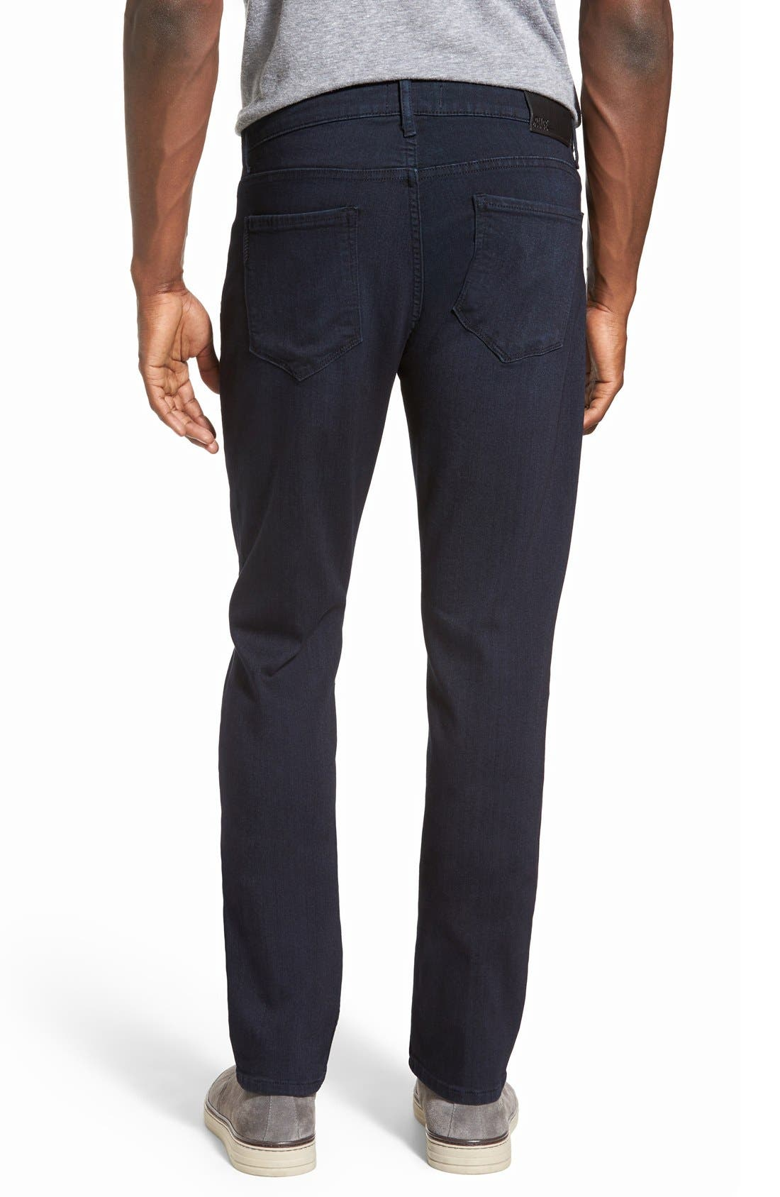 PAIGE, Transcend - Federal Slim Straight Leg Jeans, Alternate thumbnail 9, color, INKWELL