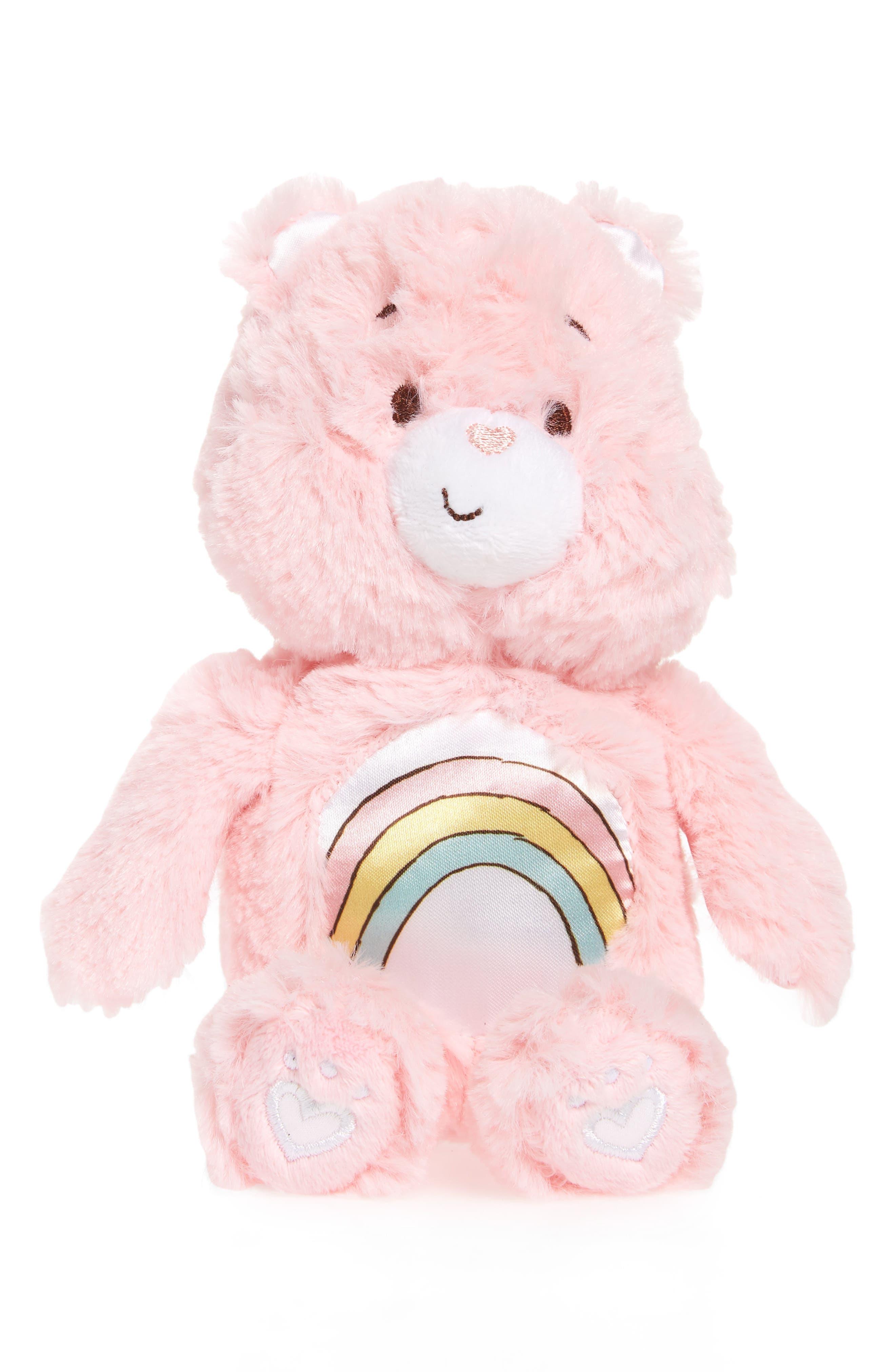 KIDS PREFERRED, Care Bears Cheer Bear Rattle Plush Toy, Main thumbnail 1, color, 650
