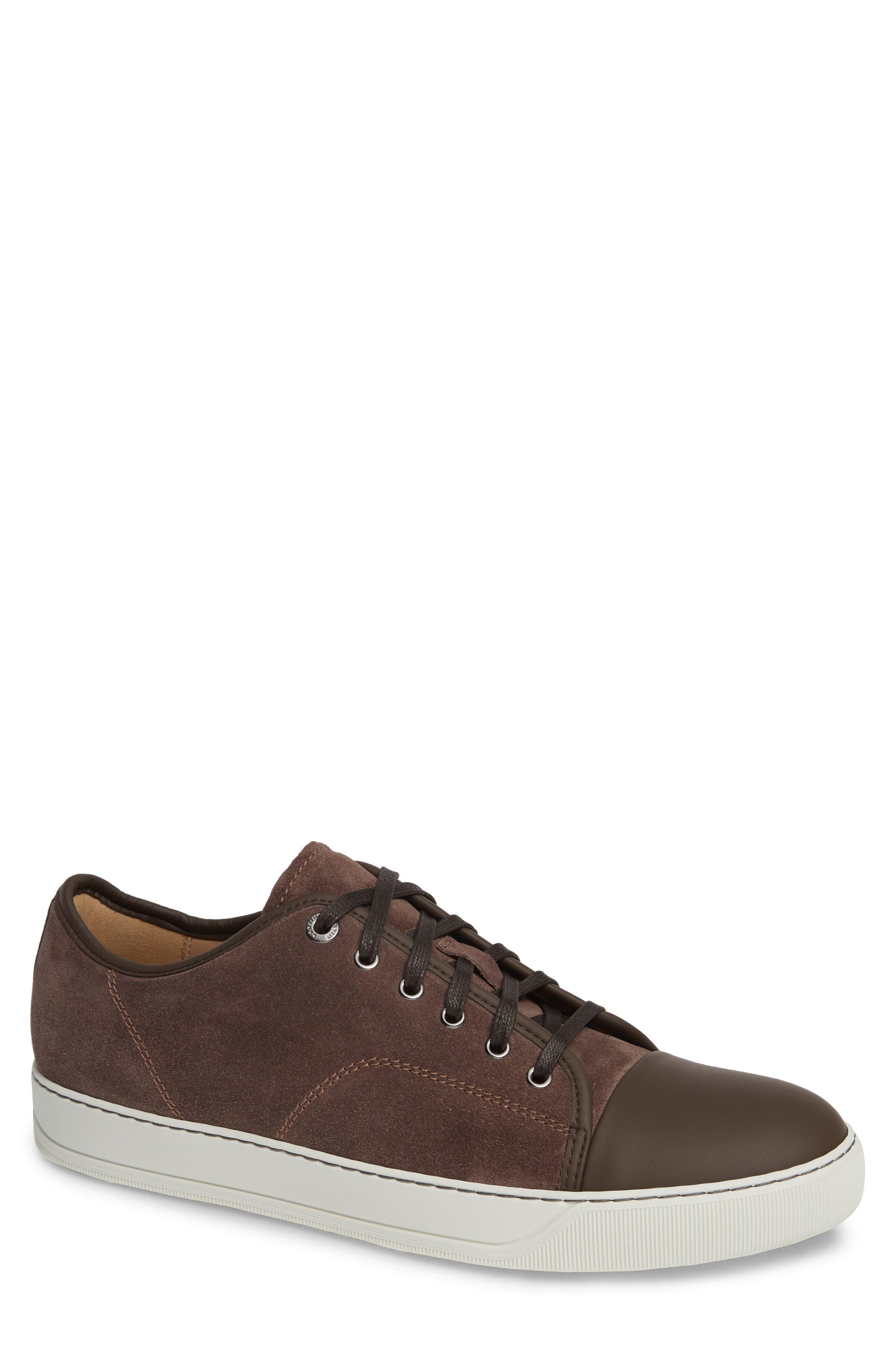 LANVIN, Low Top Sneaker, Main thumbnail 1, color, CLAY