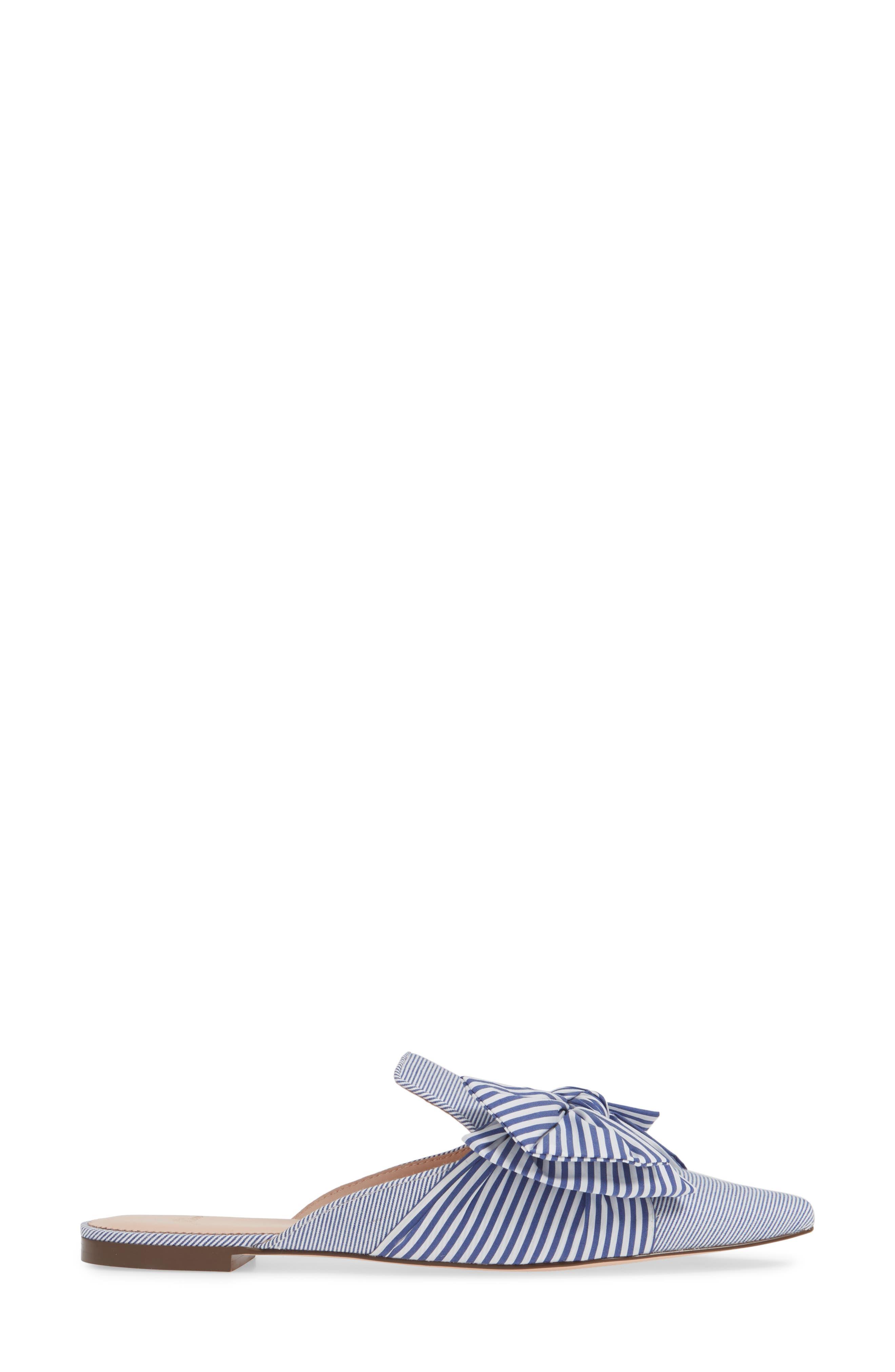 J.CREW, Pointed Toe Mule, Alternate thumbnail 3, color, OCEAN WHITE