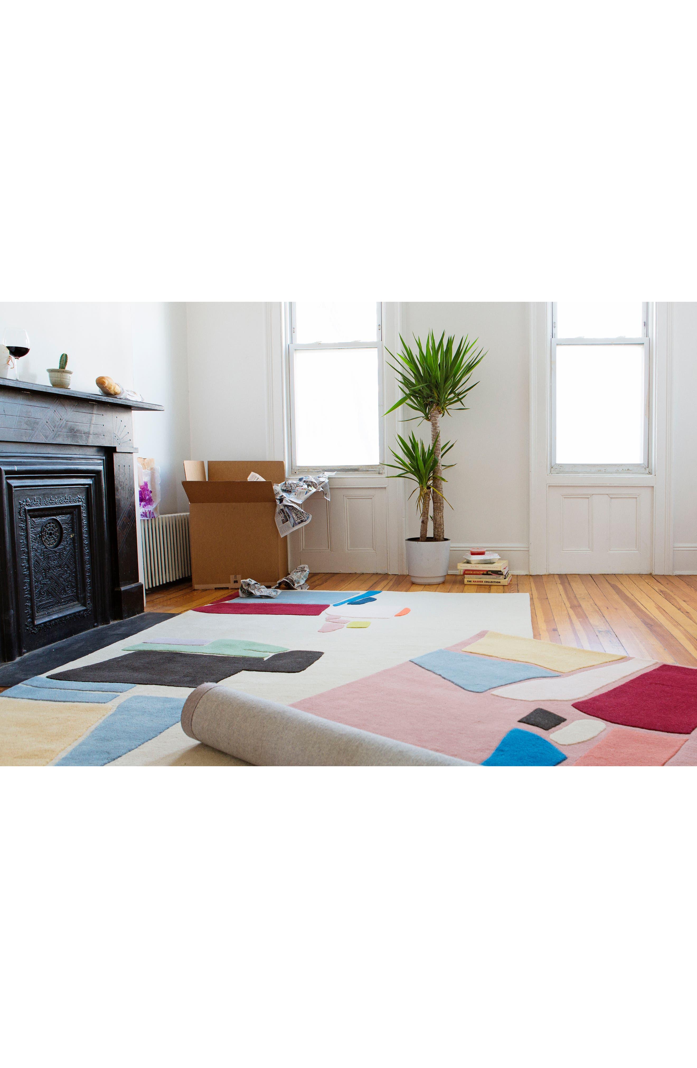 COLD PICNIC, Salt Flats Hand Tufted Wool Rug, Alternate thumbnail 2, color, 650