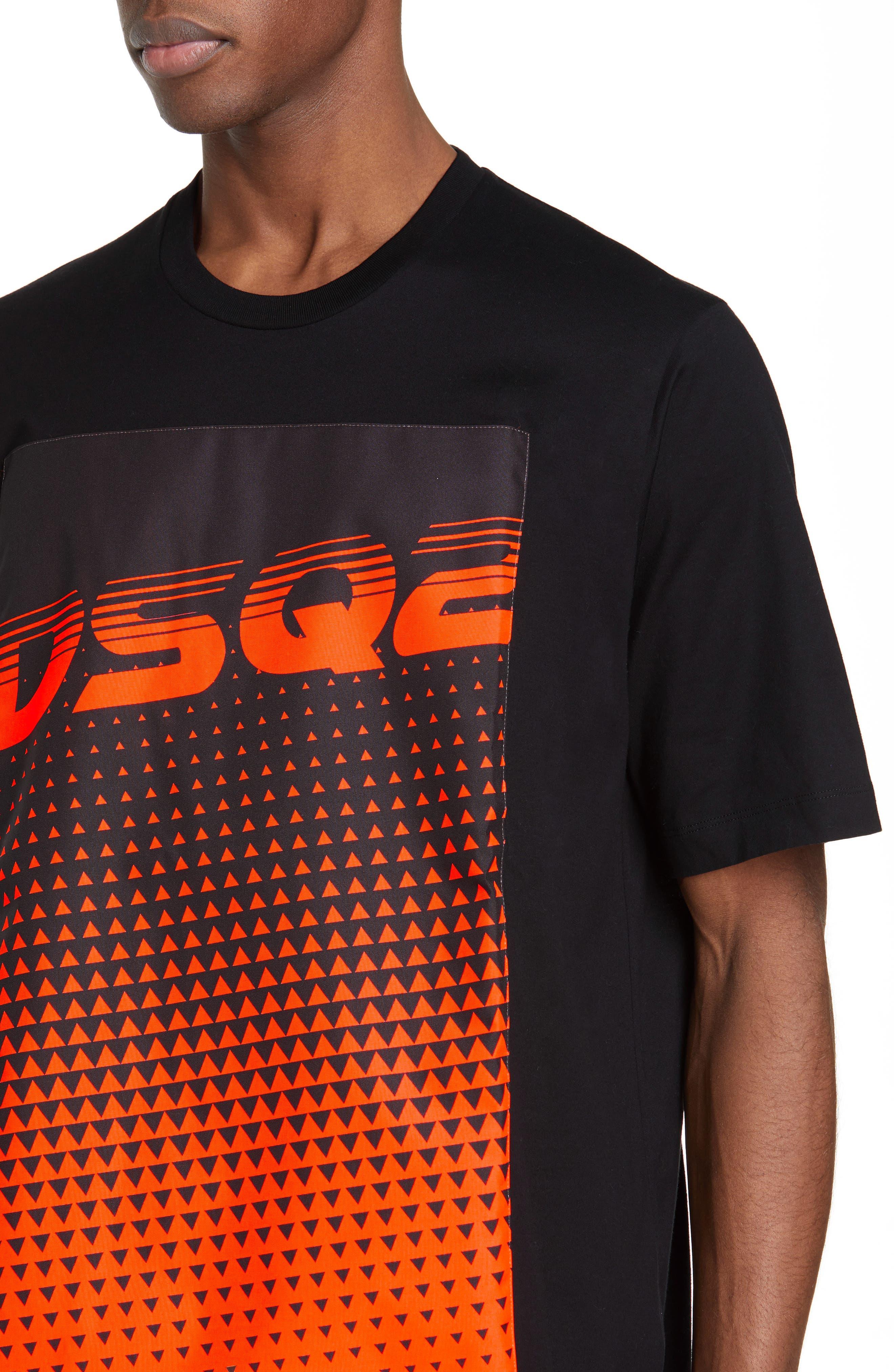 DSQUARED2, Graphic T-Shirt, Alternate thumbnail 4, color, BLACK
