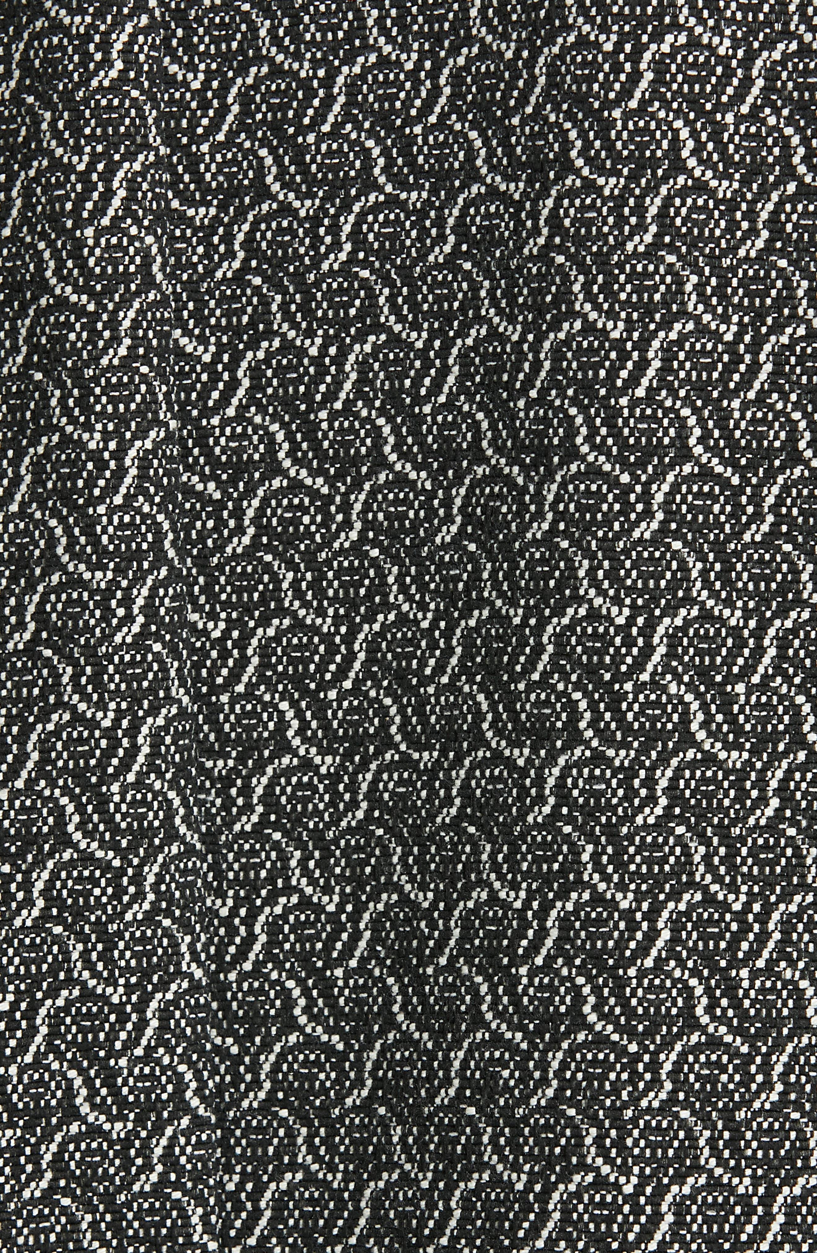EILEEN FISHER, Jacquard Jacket, Alternate thumbnail 7, color, BLACK/ BONE