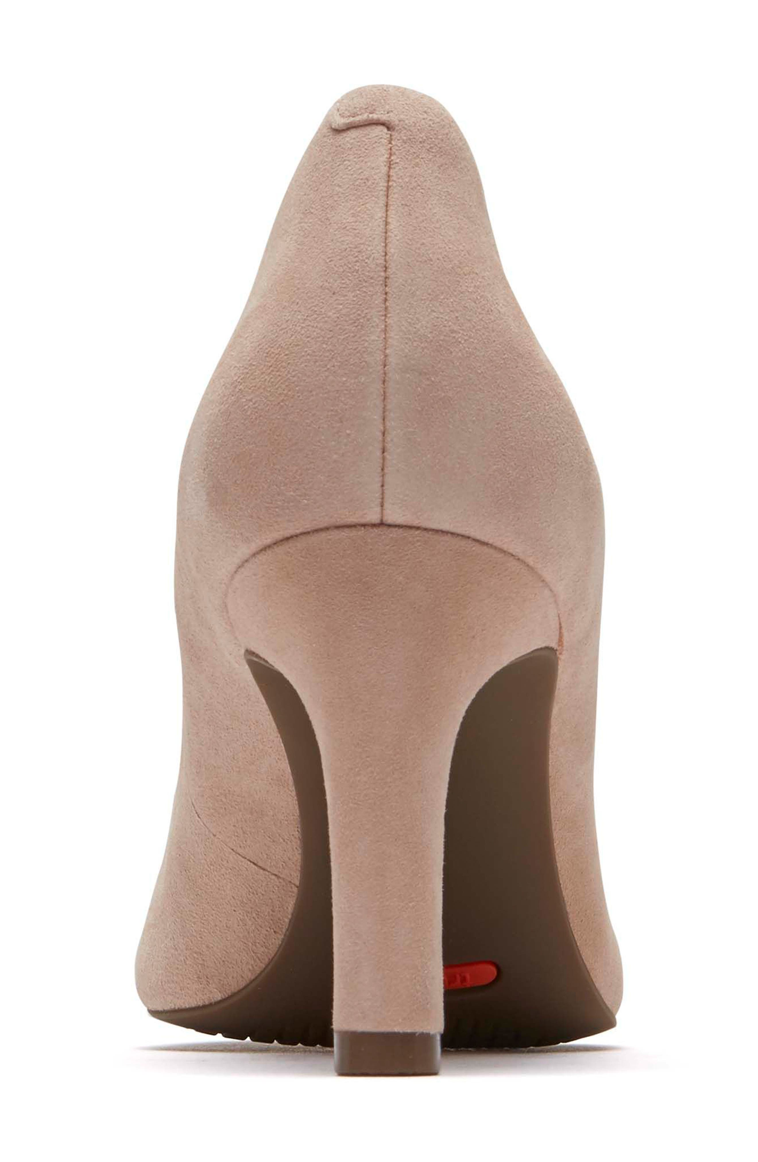 ROCKPORT, Total Motion Luxe Valerie Pump, Alternate thumbnail 7, color, BLUSH SUEDE