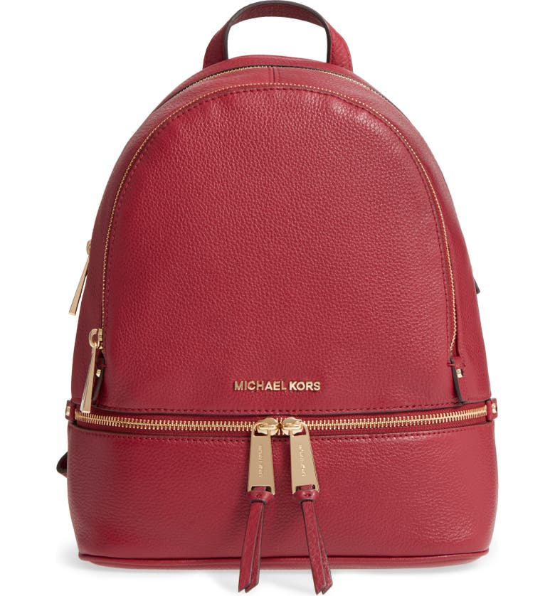 b6a76bc0ec8605 MICHAEL MICHAEL KORS 'Extra Small Rhea Zip' Leather Backpack, Main, color,