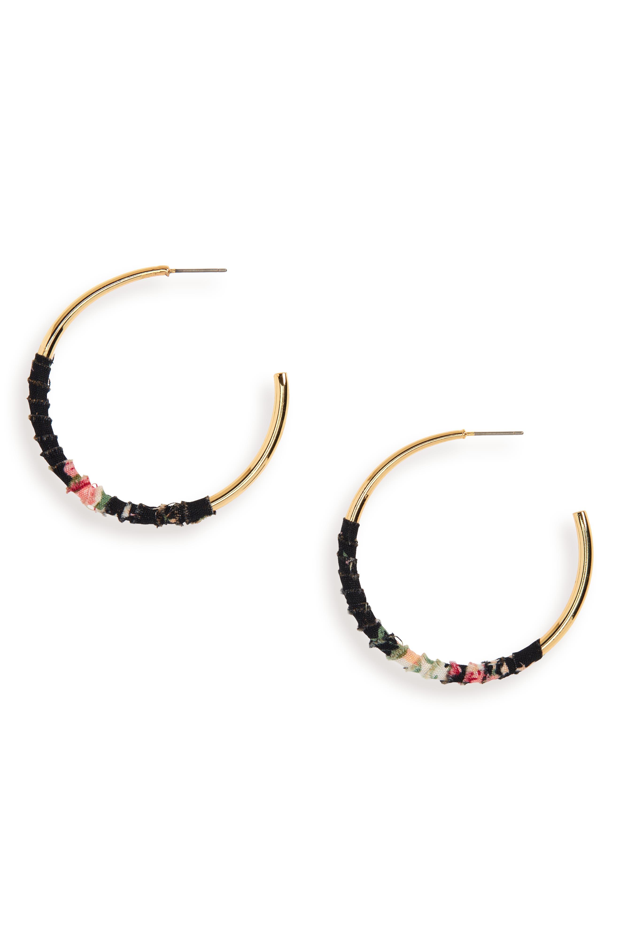 UNCOMMON JAMES BY KRISTIN CAVALLARI, Womanizer Hoop Earrings, Main thumbnail 1, color, 710