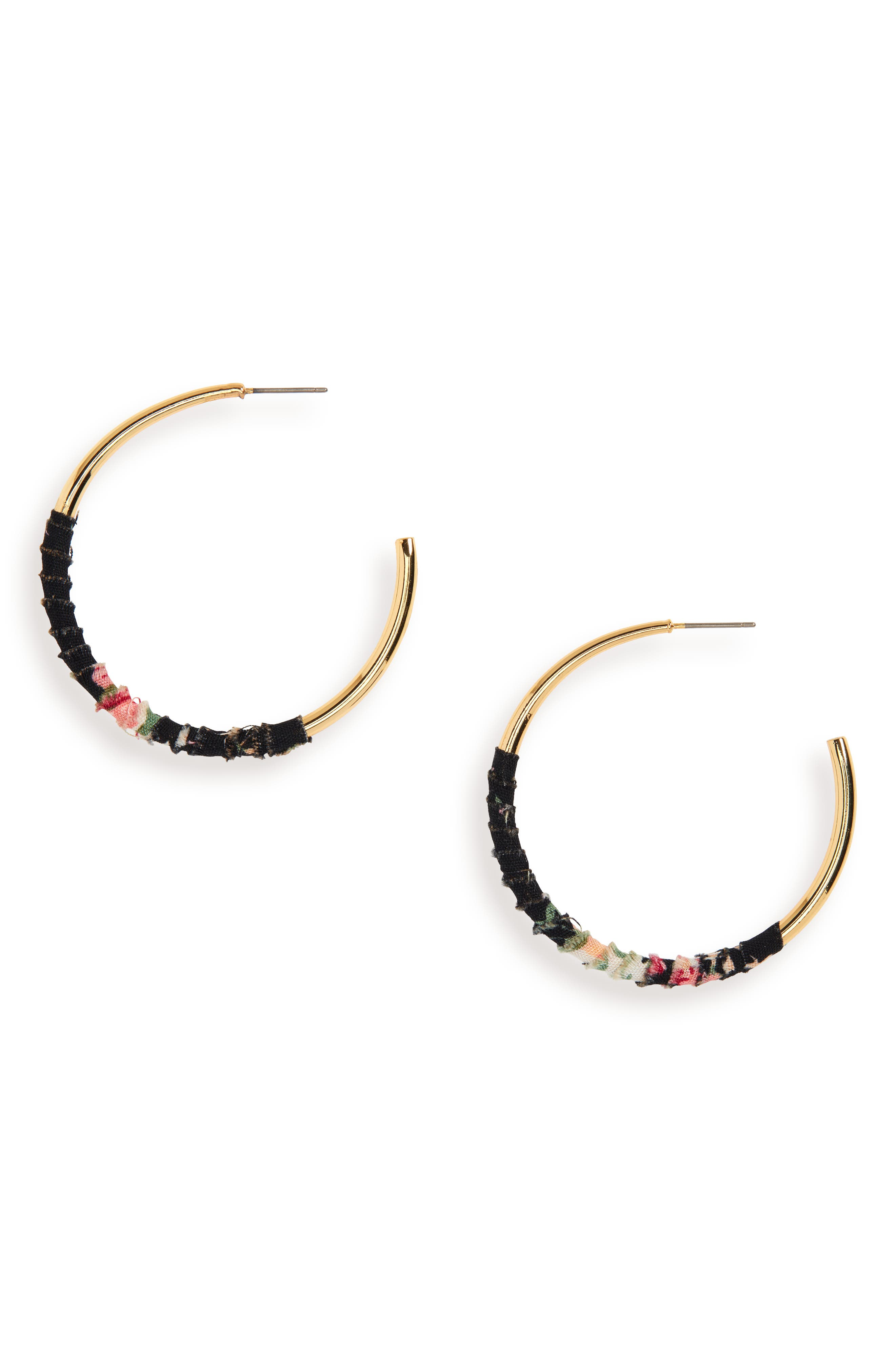 UNCOMMON JAMES BY KRISTIN CAVALLARI Womanizer Hoop Earrings, Main, color, 710