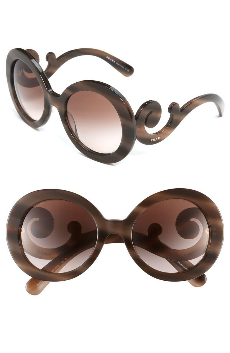 5f24d997f13b Prada  Baroque  55mm Round Sunglasses