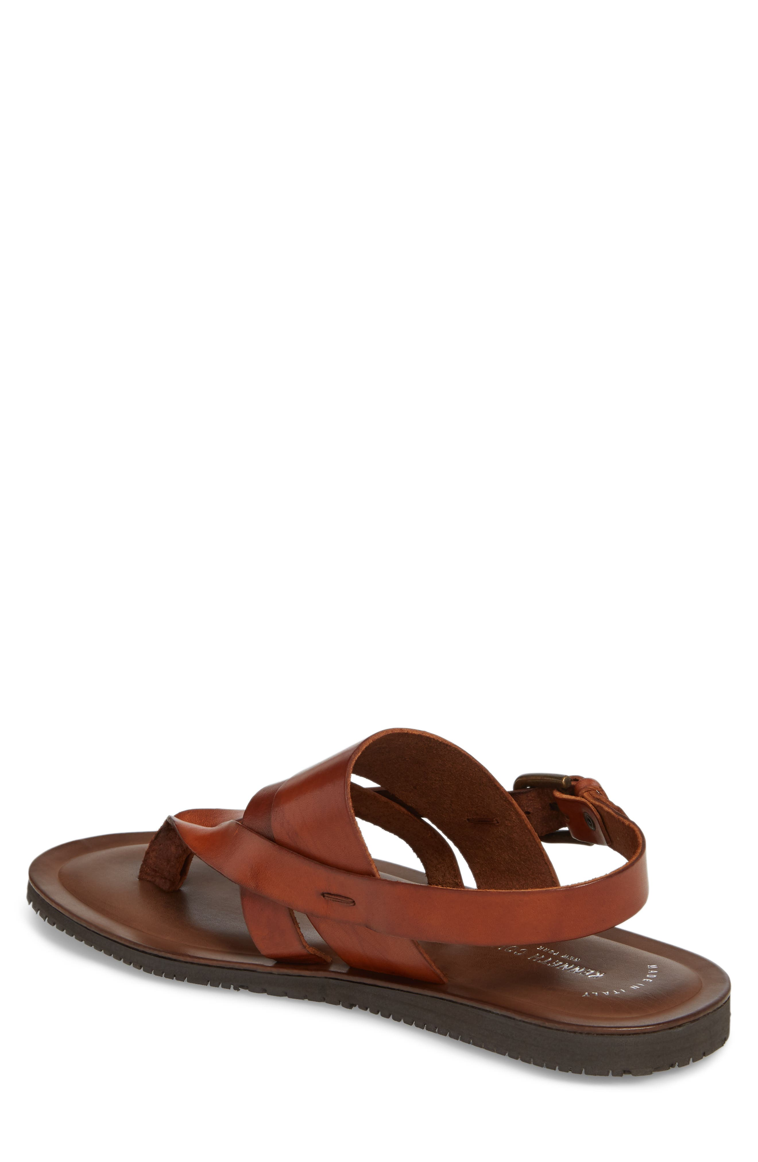 KENNETH COLE NEW YORK, 'Reel-Ist' Sandal, Alternate thumbnail 2, color, COGNAC LEATHER