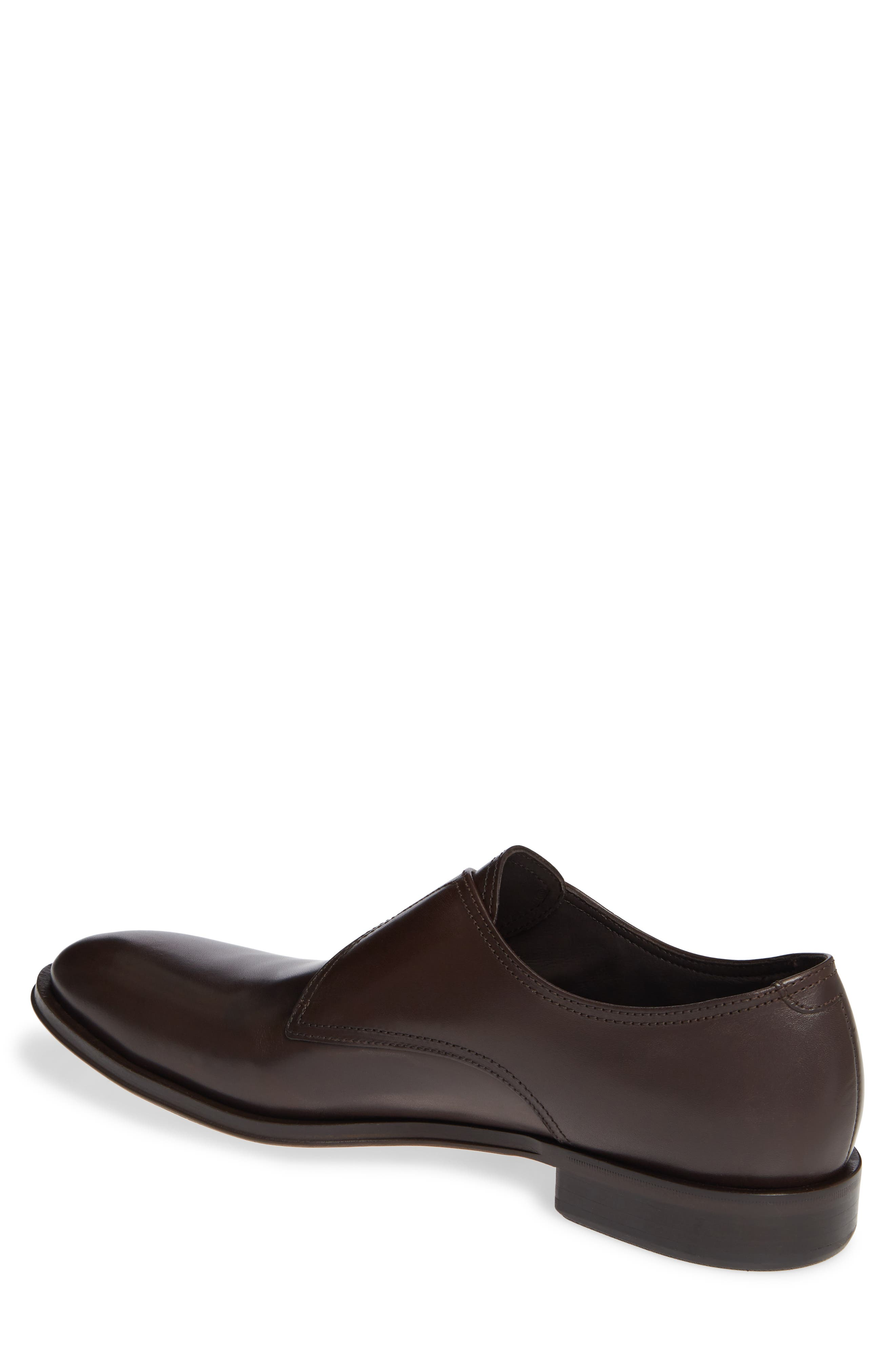ALLEN EDMONDS, Umbria Monk Strap Shoe, Alternate thumbnail 2, color, DARK BROWN LEATHER
