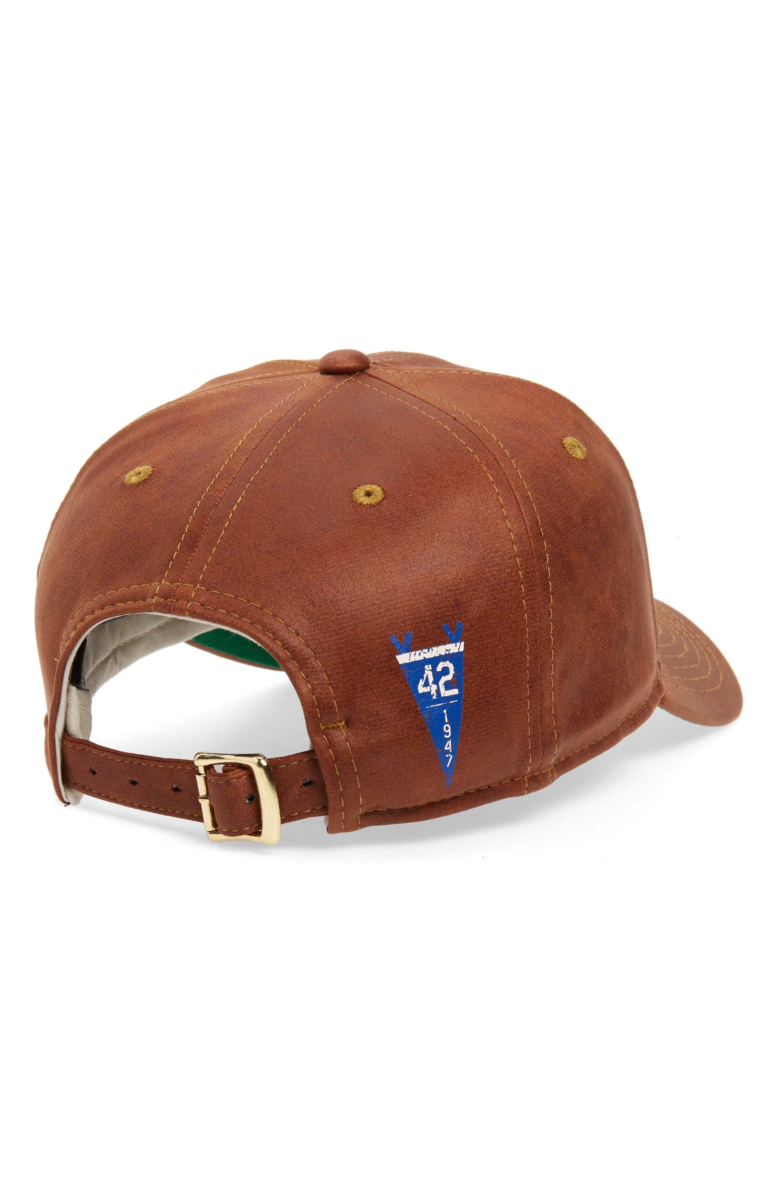 NEW ERA CAP, Jackie Robinson 9Twenty Baseball Cap, Alternate thumbnail 2, color, BROWN
