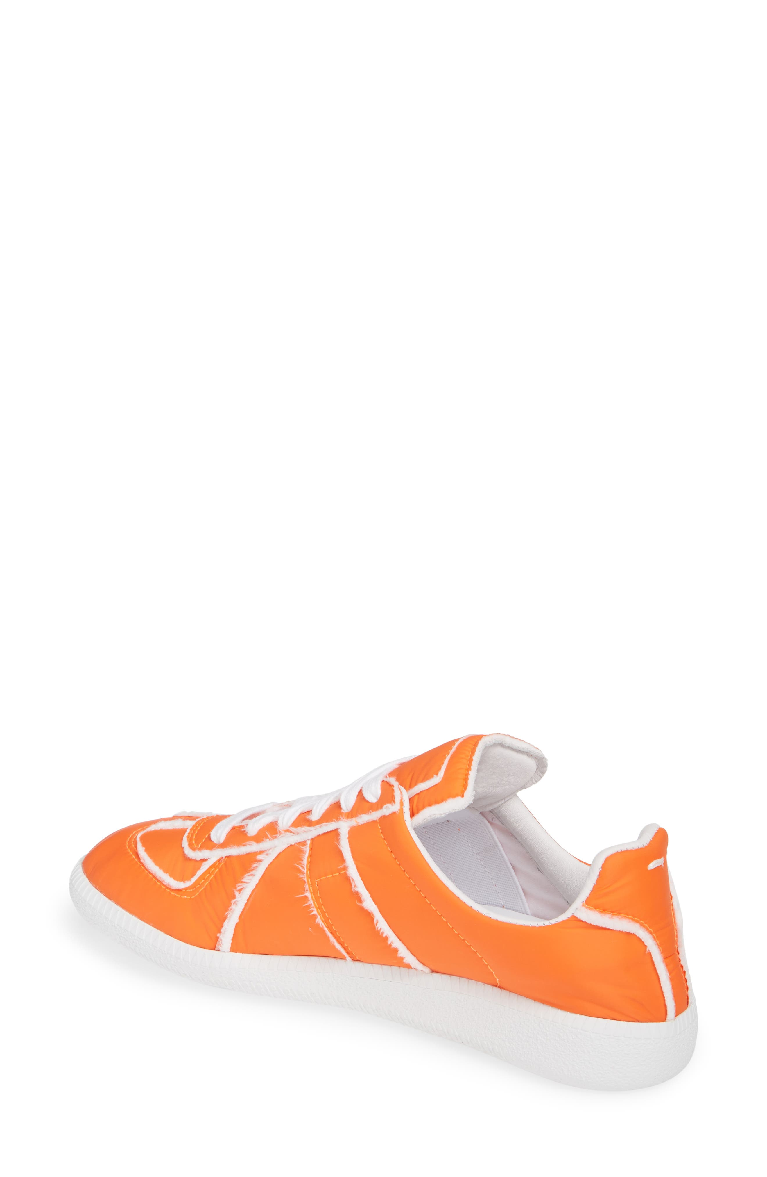MAISON MARGIELA, Replica Lace-Up Sneaker, Alternate thumbnail 2, color, VERMILLION ORANGE