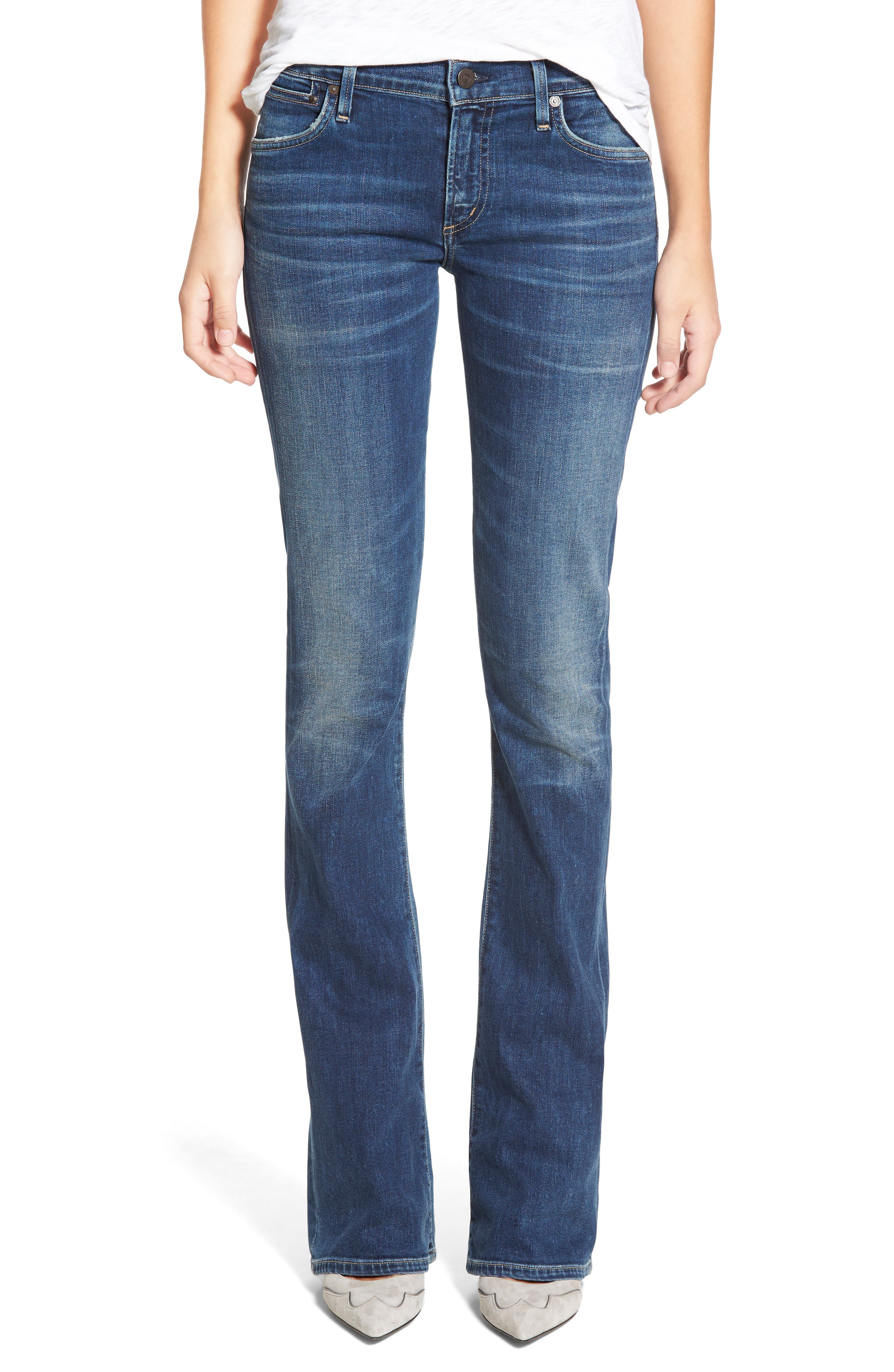 CITIZENS OF HUMANITY, 'Emannuelle' Slim BootcutJeans, Main thumbnail 1, color, MODERN LOVE