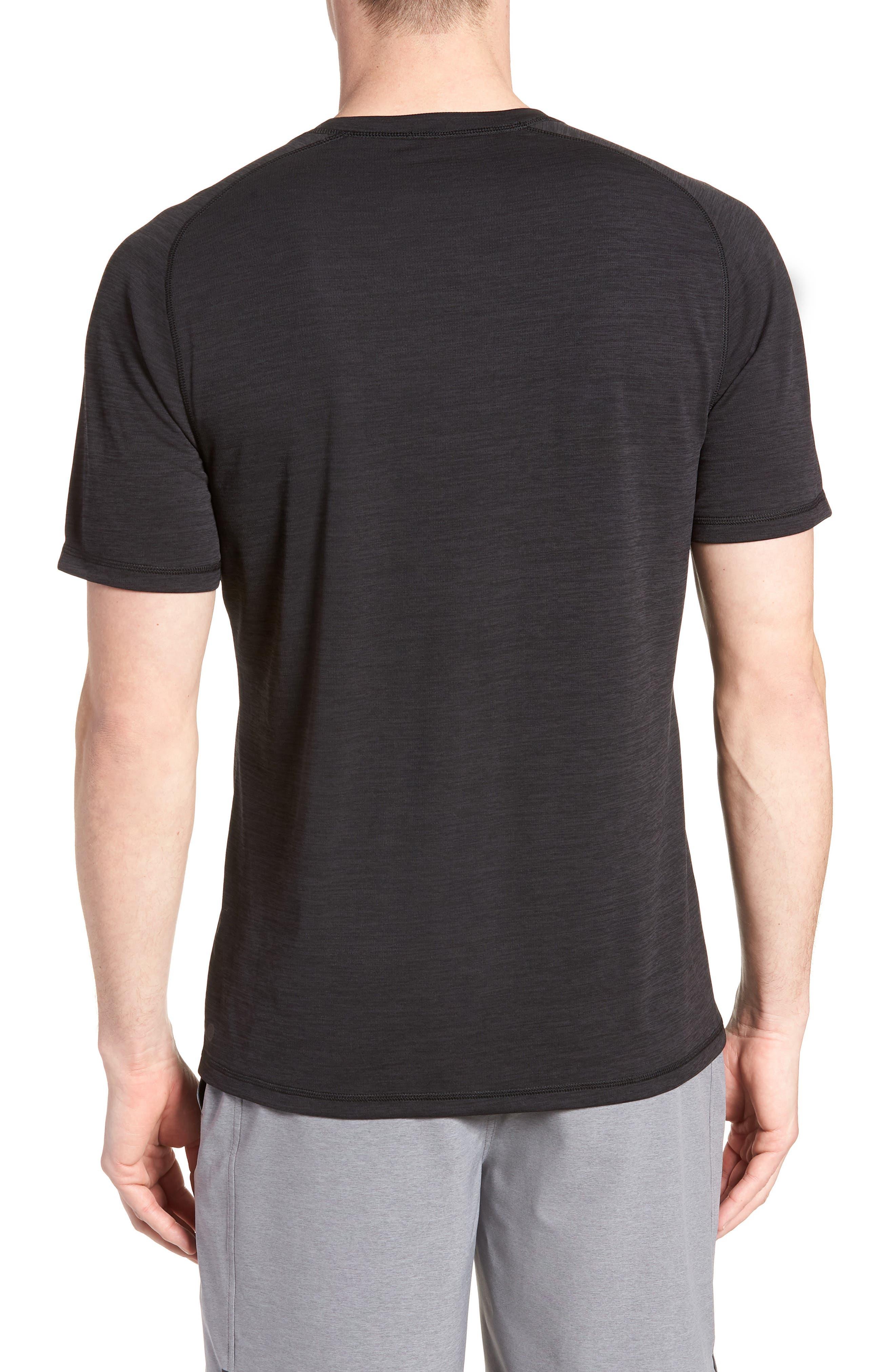 ZELLA, Kinoite Raglan Crewneck T-Shirt, Alternate thumbnail 2, color, BLACK OXIDE MELANGE
