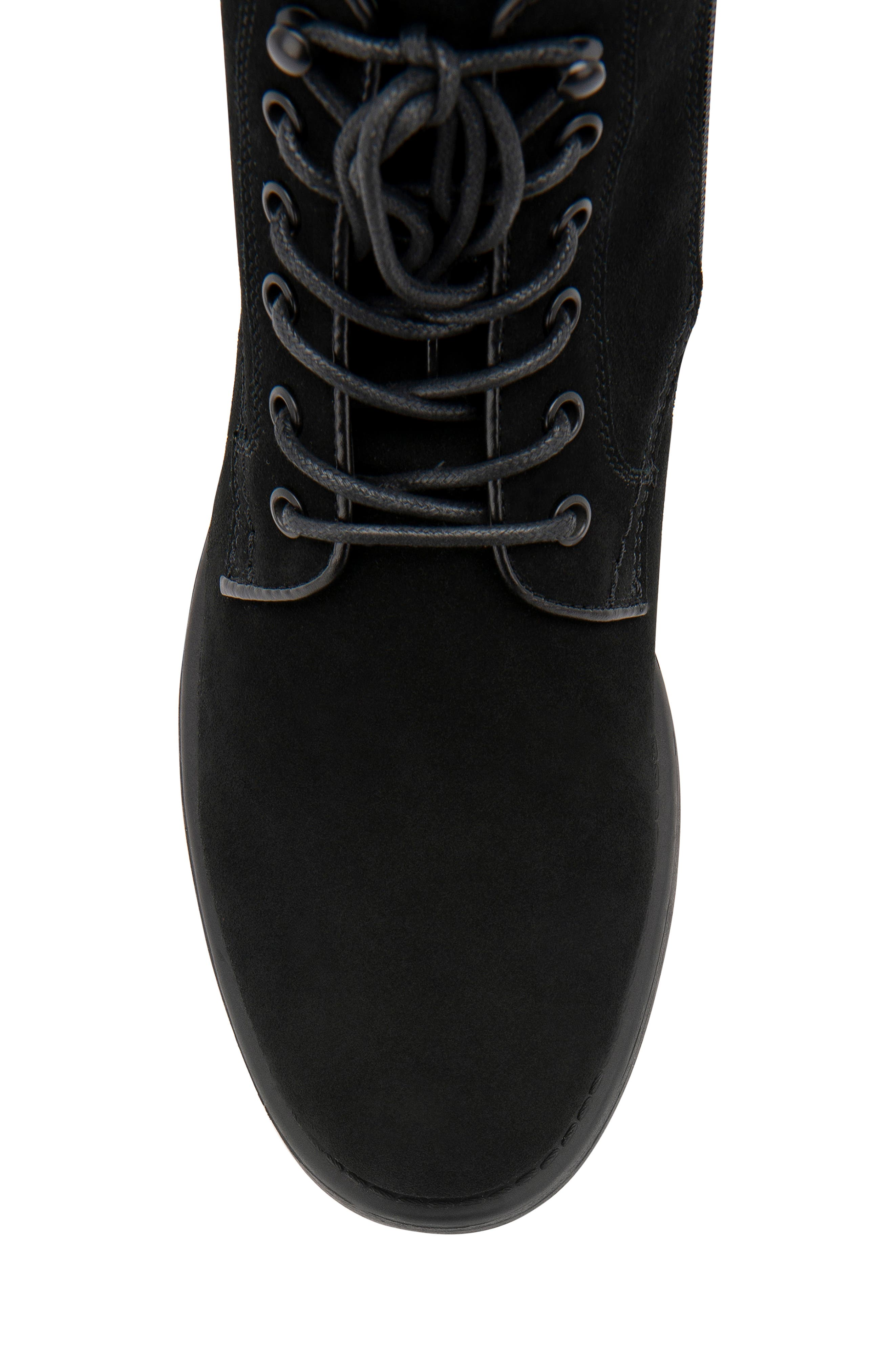 BLONDO, Peter Waterproof Plain Toe Boot, Alternate thumbnail 6, color, BLACK SUEDE