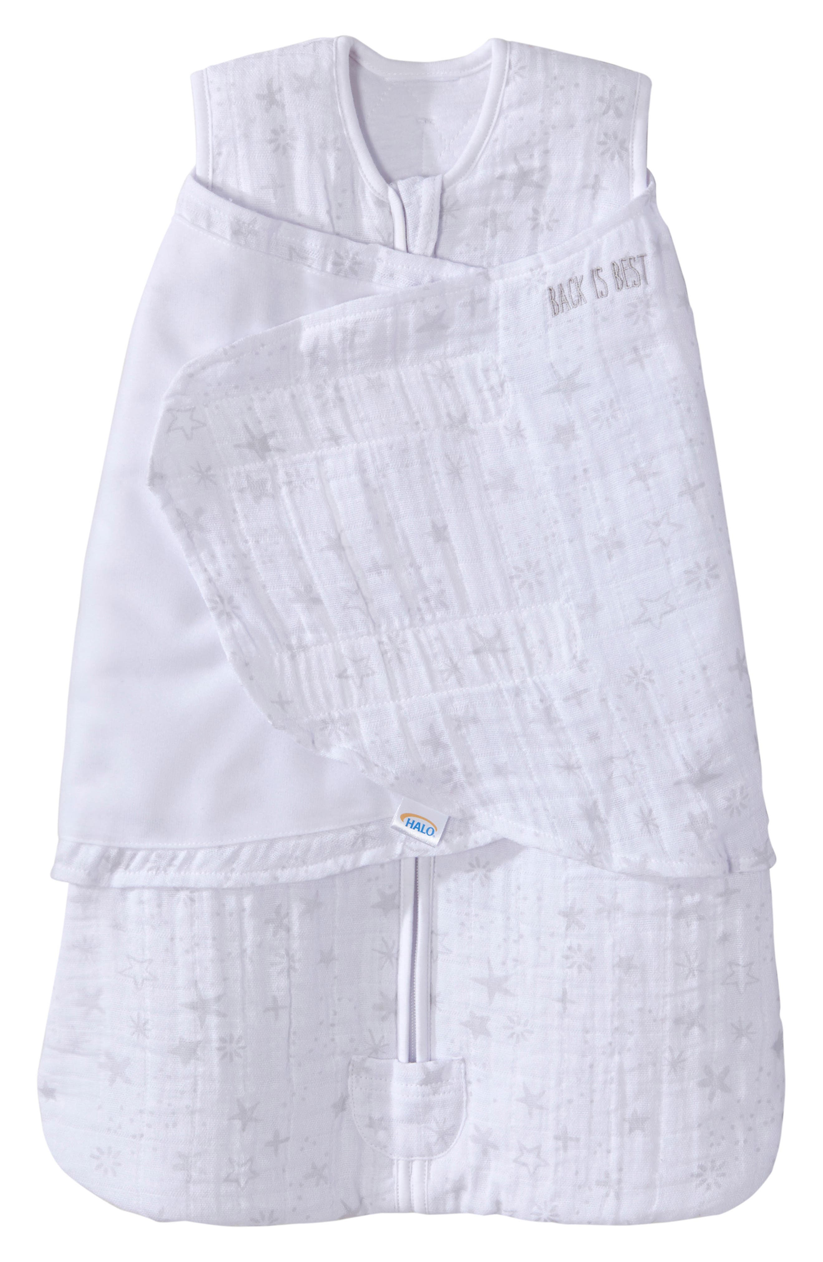 HALO<SUP>®</SUP>, Platinum Series SleepSack<sup>™</sup> Quilted Swaddle, Main thumbnail 1, color, GREY CONSTELLATION