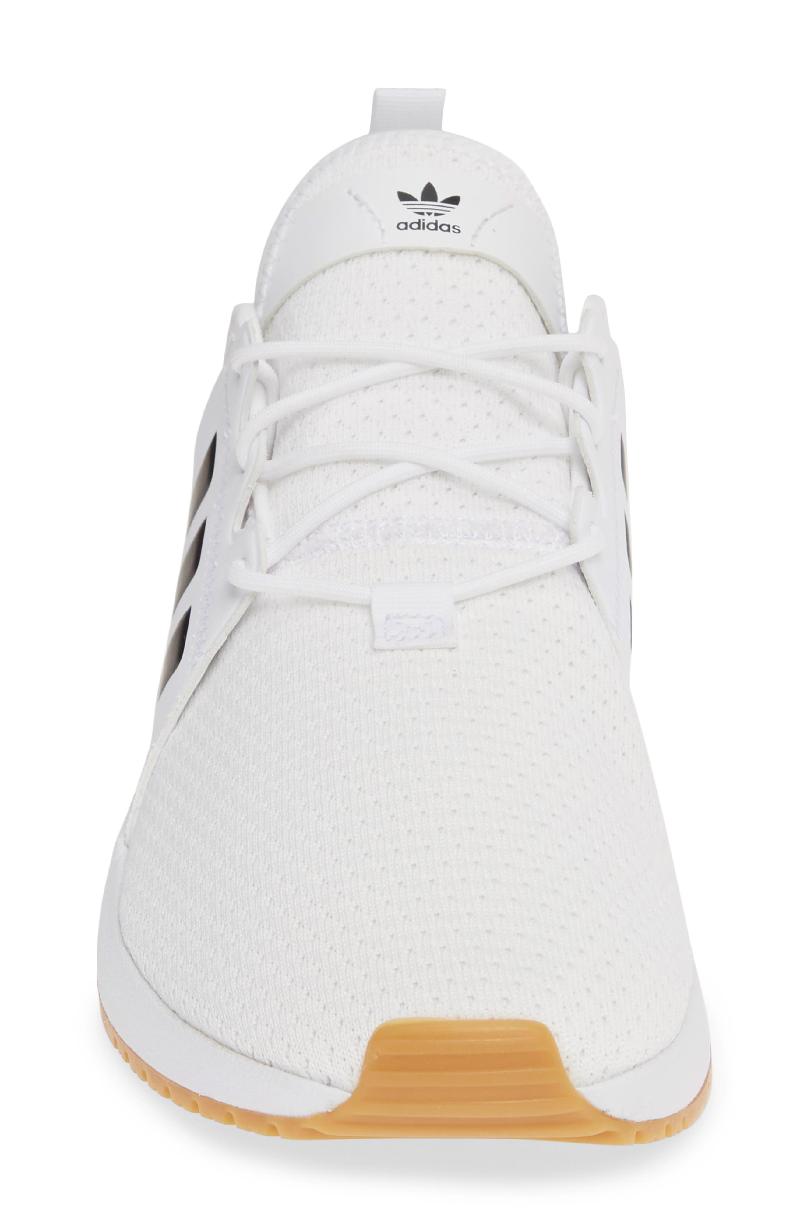 ADIDAS, X_PLR Sneaker, Alternate thumbnail 4, color, WHITE/ CORE BLACK/ GUM