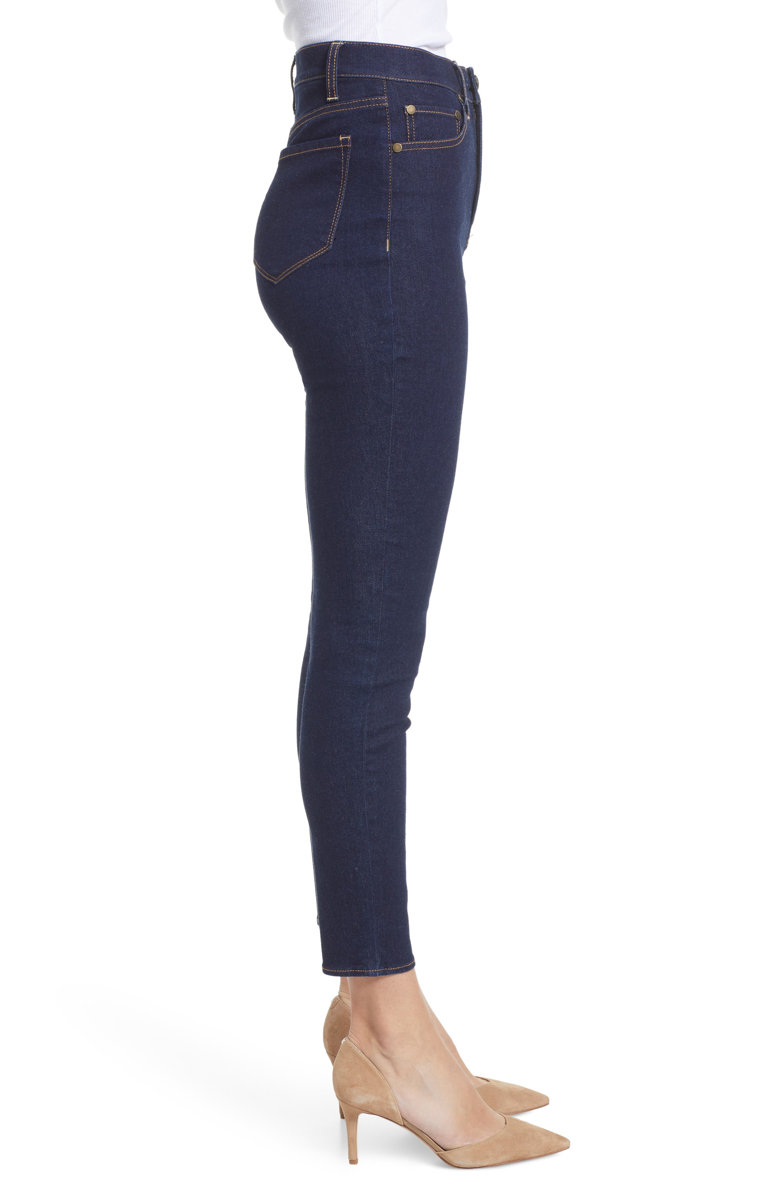 TINSEL, High Waist Skinny Jeans, Alternate thumbnail 4, color, 401
