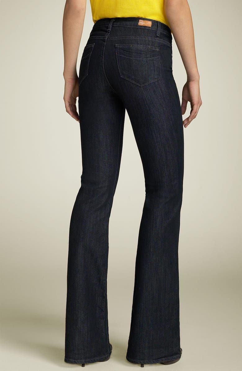 ba7b6ab182 Paige Denim  Rising Glen  High Rise Bootcut Stretch Jeans (Black Sea ...