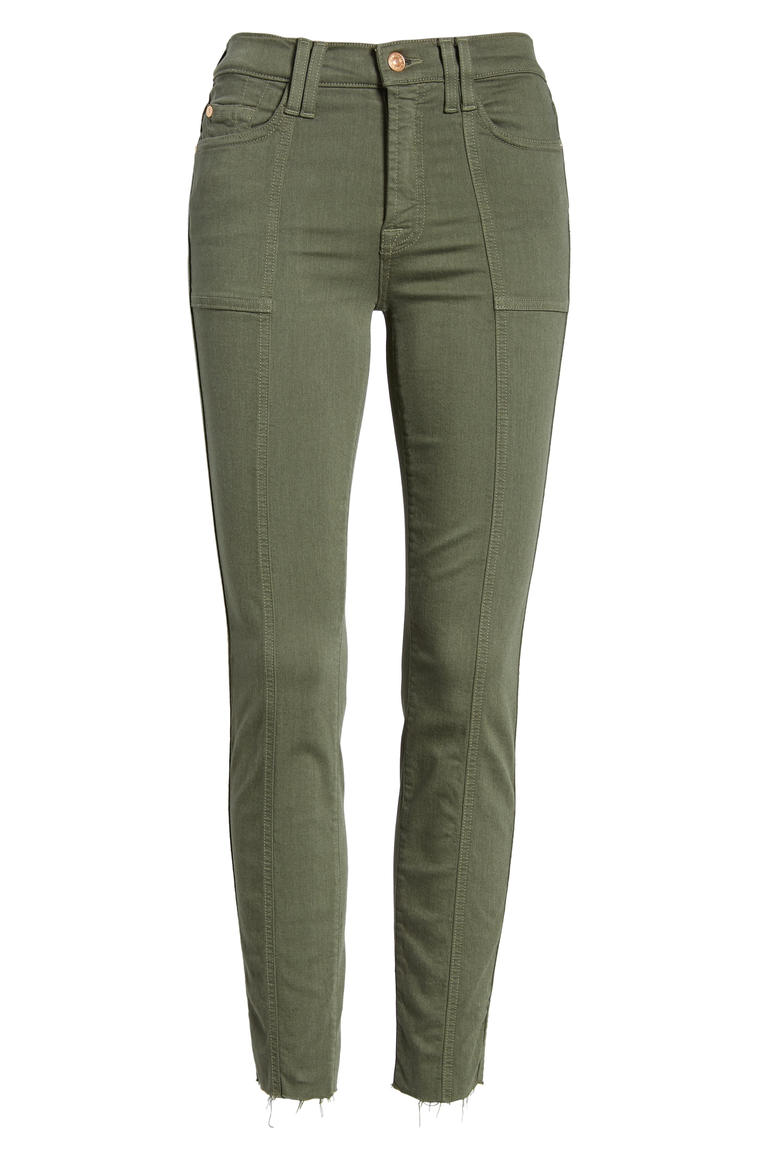 7 FOR ALL MANKIND<SUP>®</SUP>, Roxanne Paneled Ankle Slim Jeans, Alternate thumbnail 7, color, 301