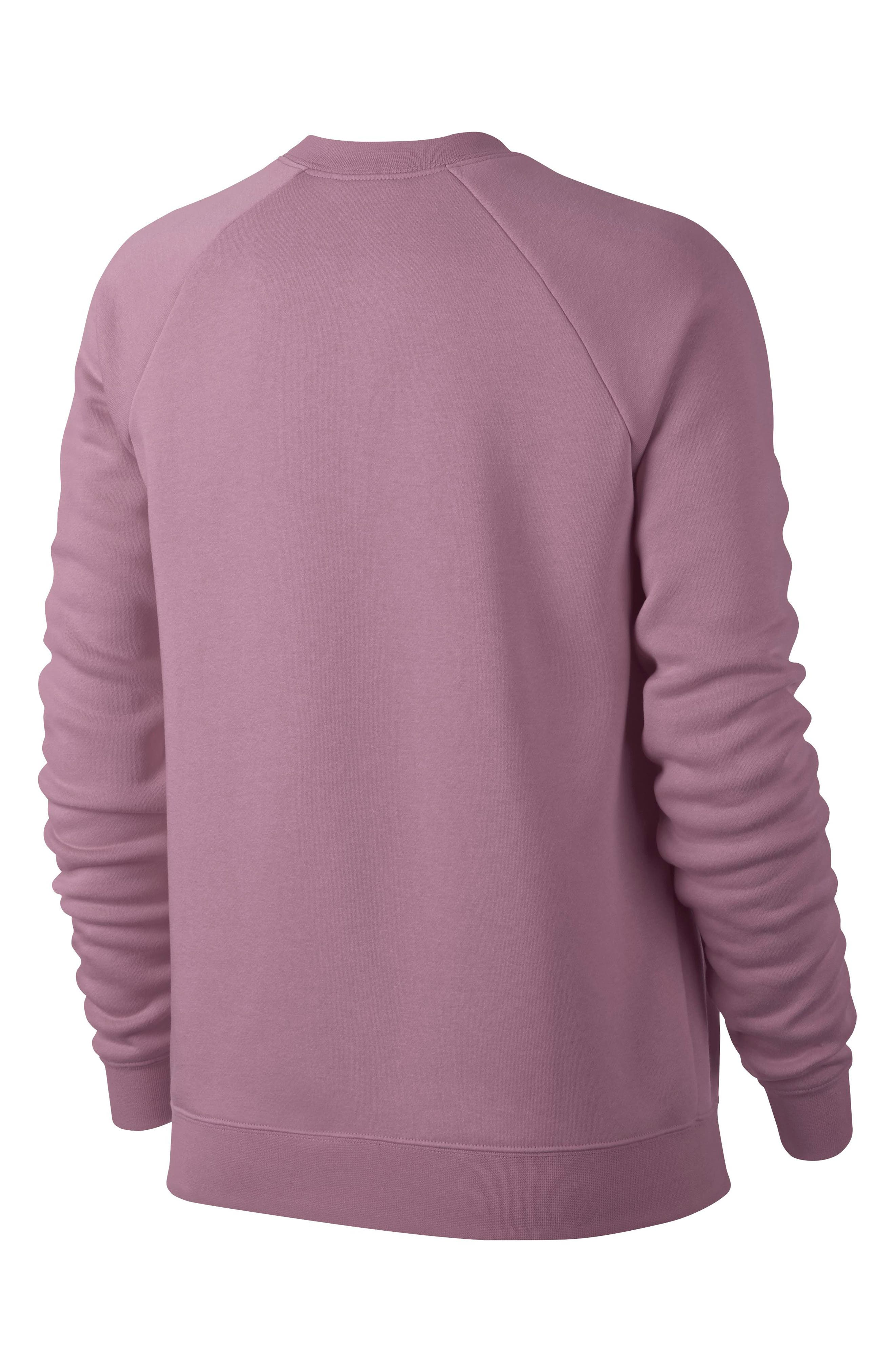 NIKE, NSW Rally Sweatshirt, Alternate thumbnail 8, color, PLUM DUST/ WHITE